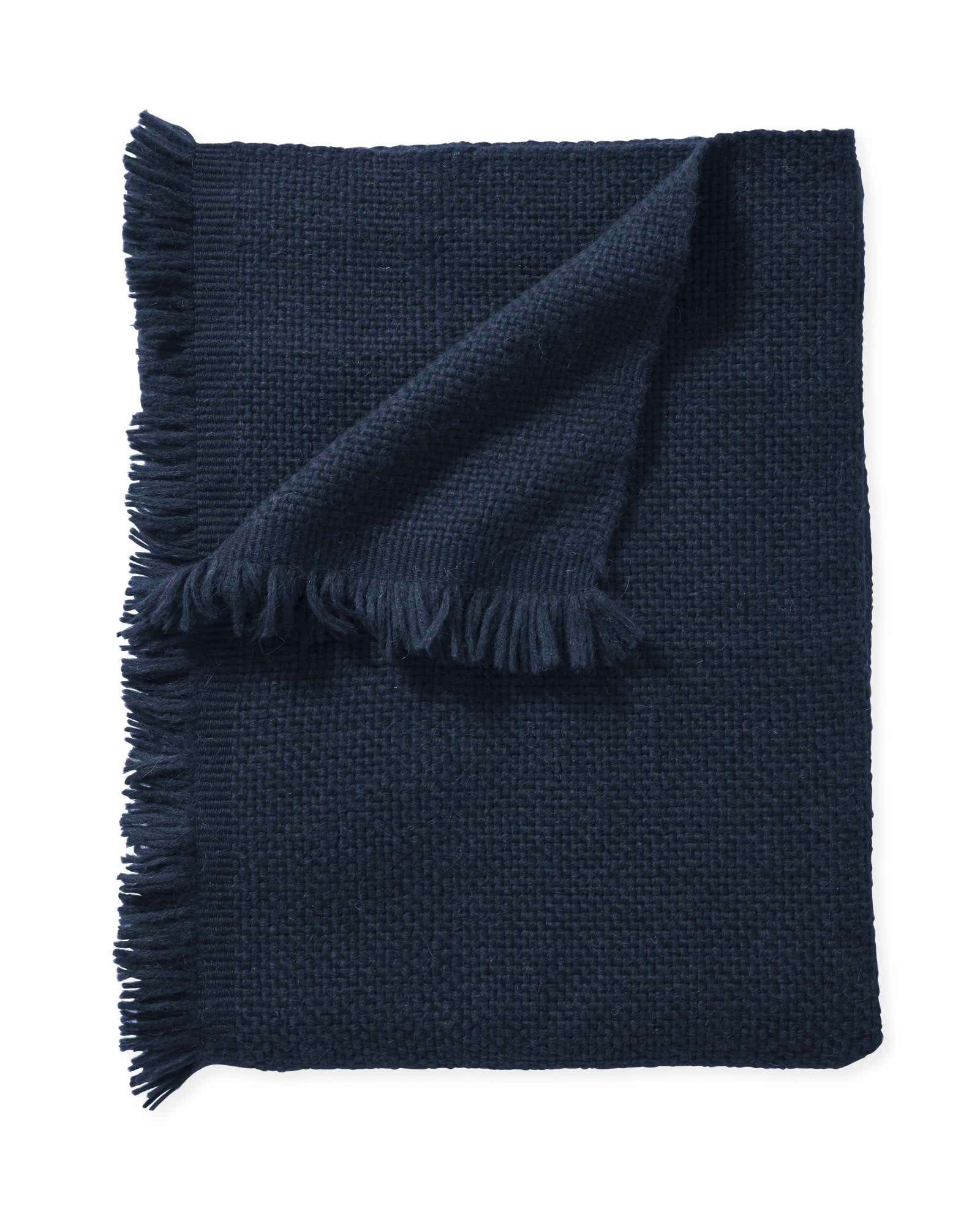 Milo Alpaca Throw, Navy