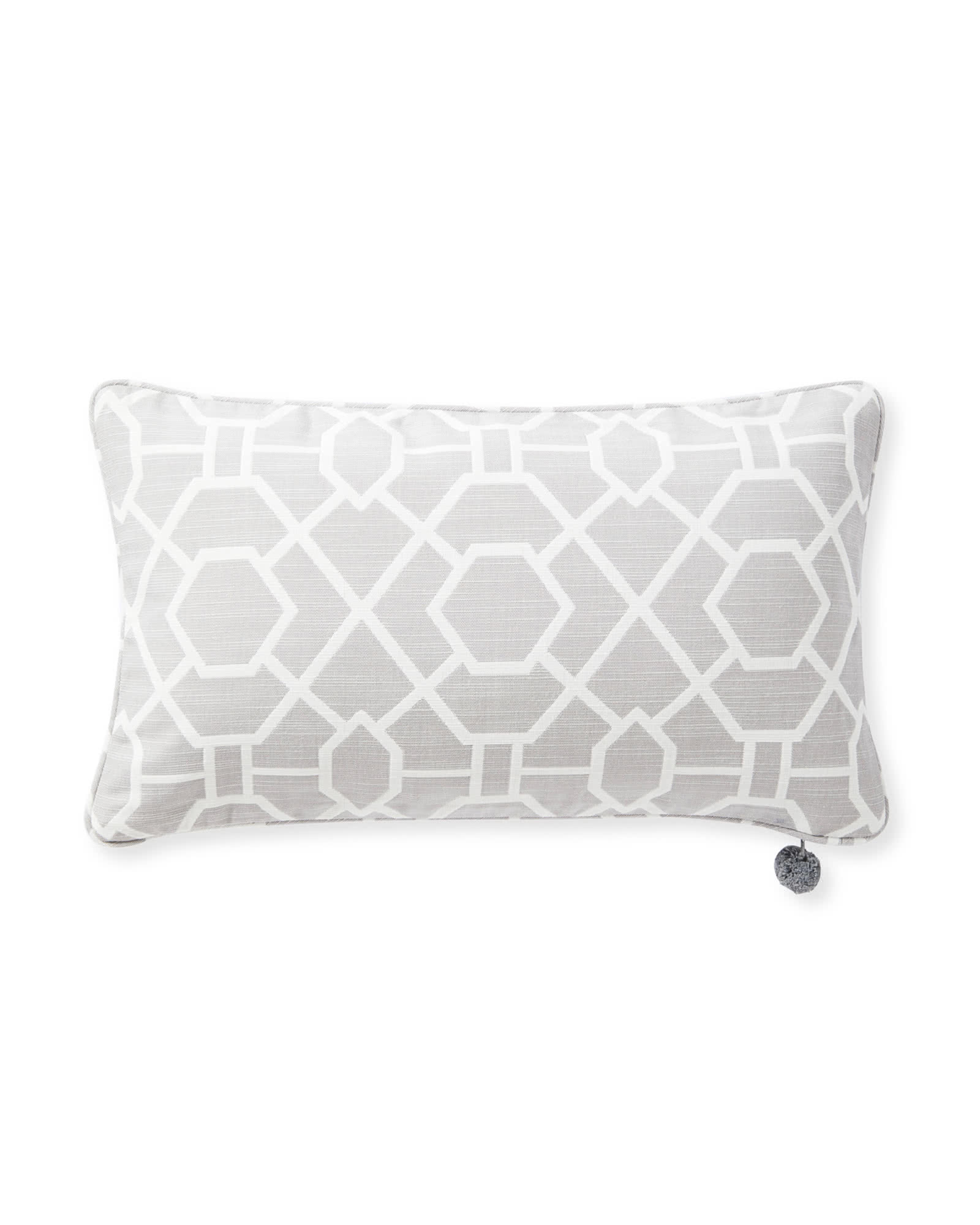 Perennials® Trellis Pillow Cover, Smoke