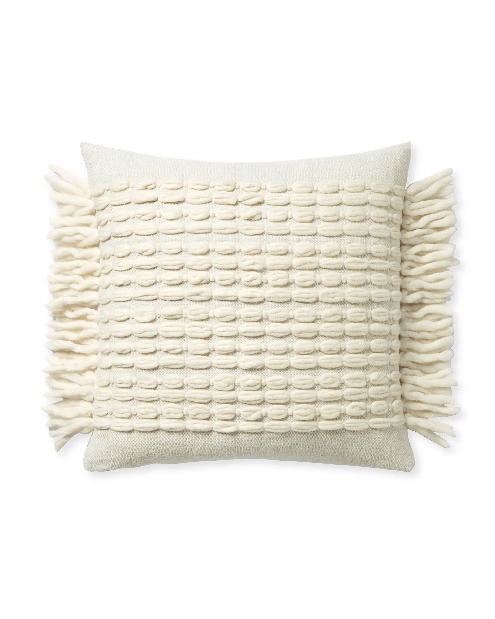 Winter Beach Pillow Cover, Ivory