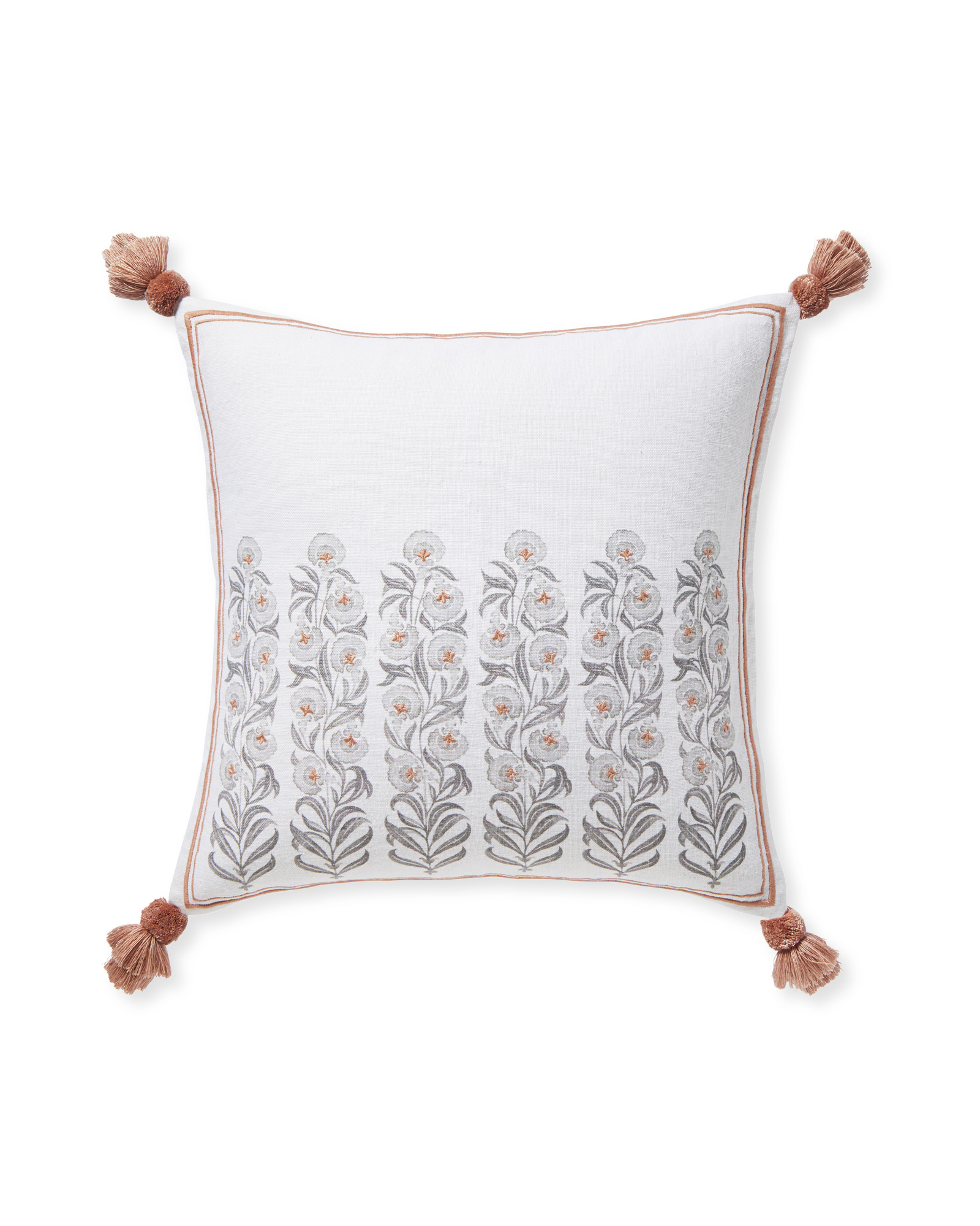 Millwood Pillow Cover, Wild Rose/Fog