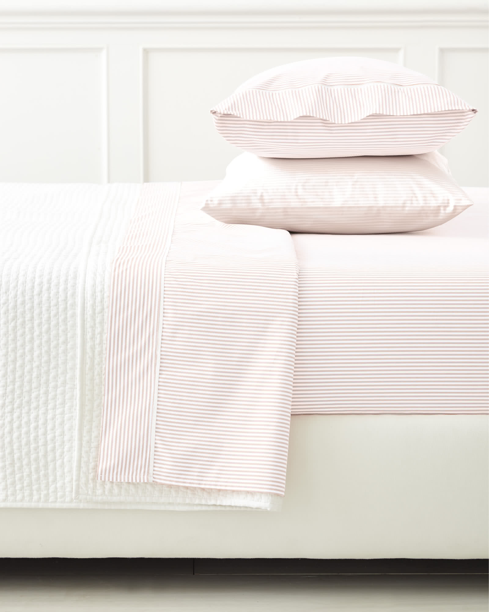 Oxford Stripe Pillowcases (Extra Set of 2), Pink Sand