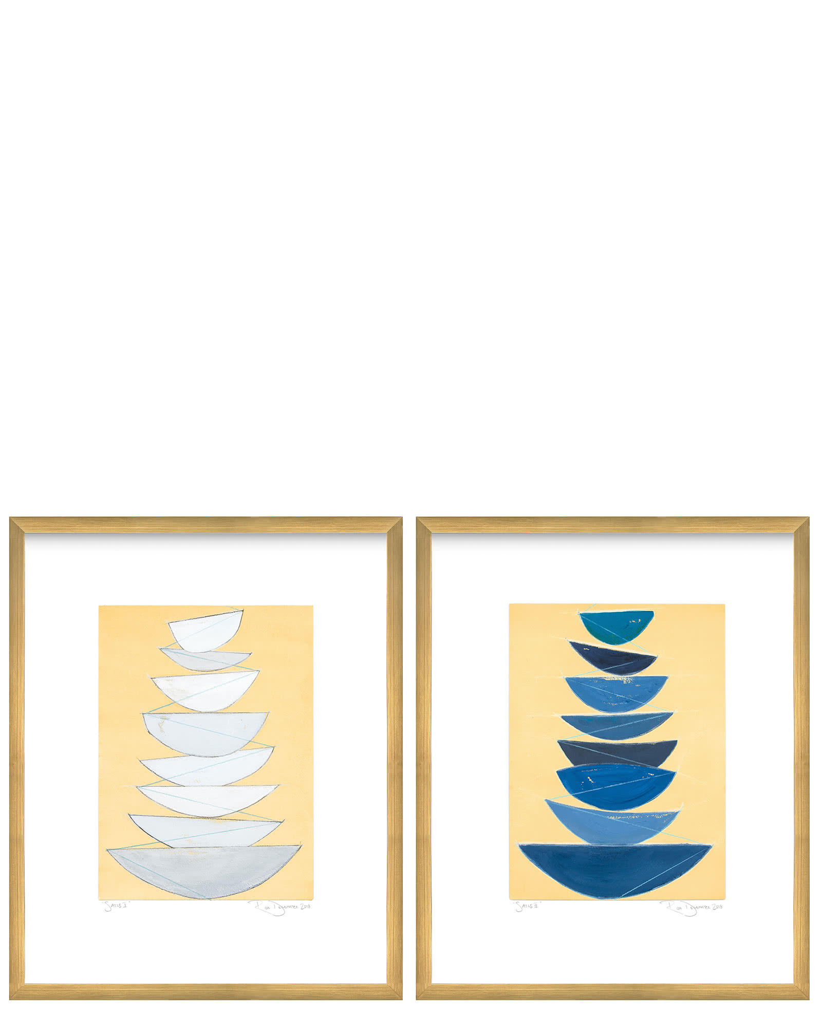 """Sails I & II"" by Rob Delamater,"