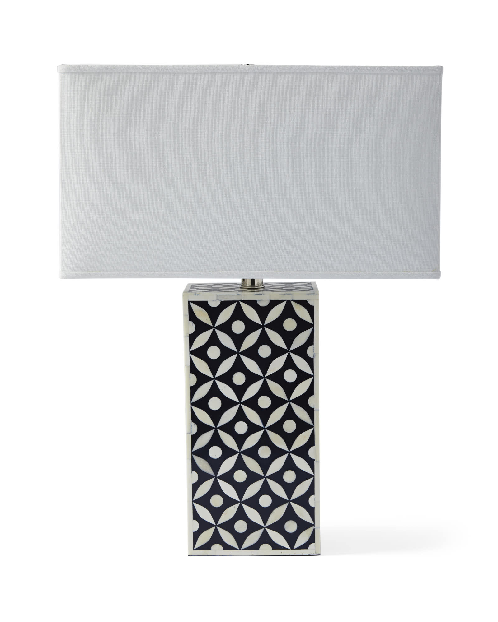 Portland Bone Inlay Table Lamp, Blue