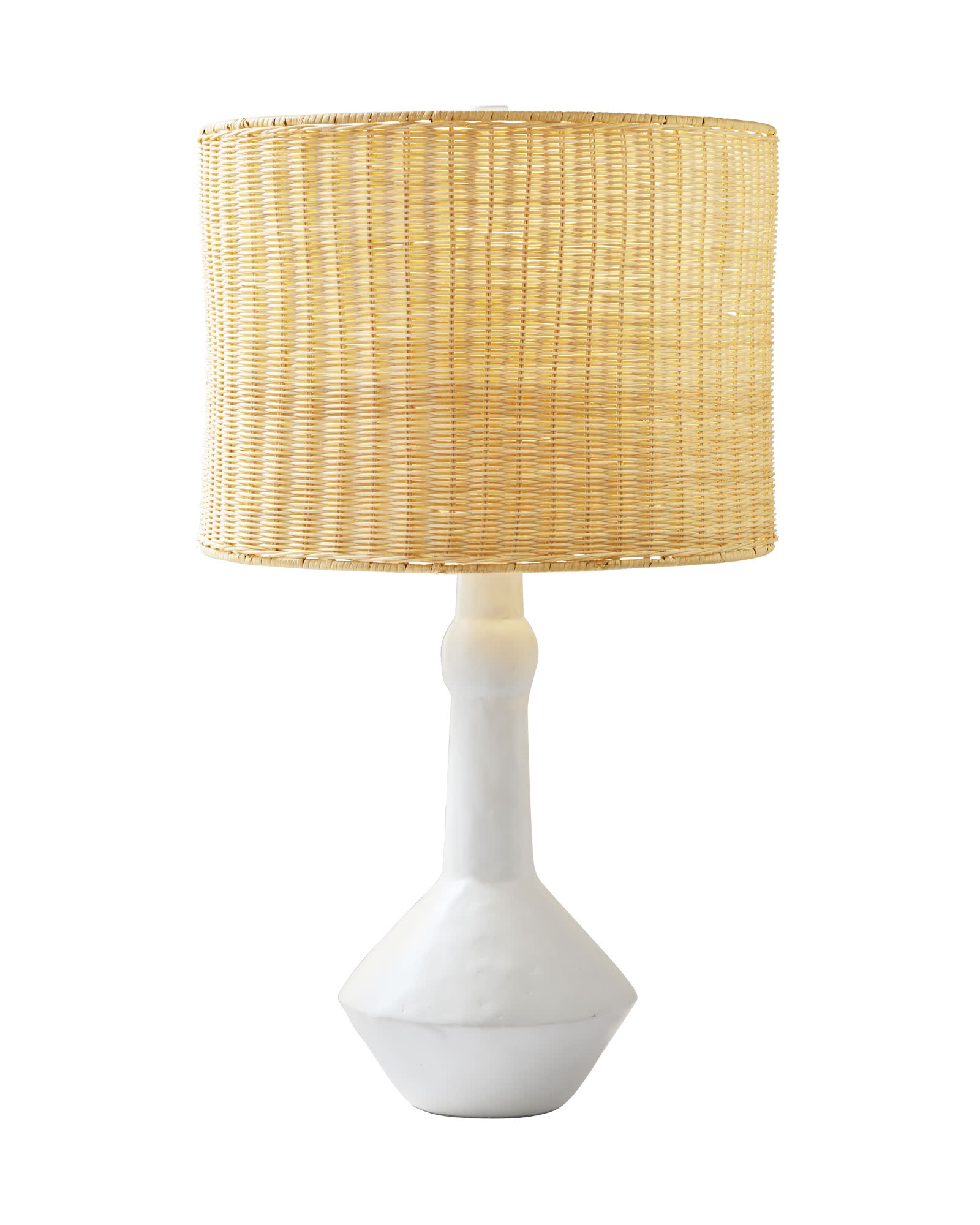 Large Brighton Table Lamp, Wicker