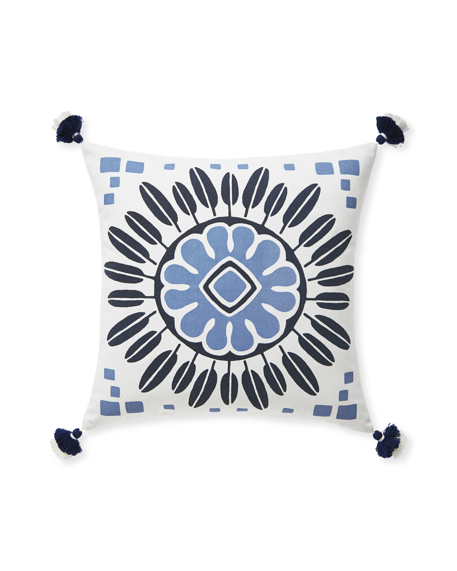Campania Medallion Pillow Cover, Navy