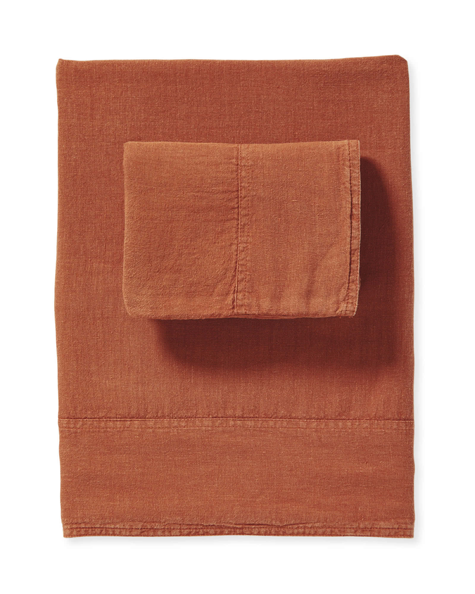 Positano Linen Sheet Set, Terracotta