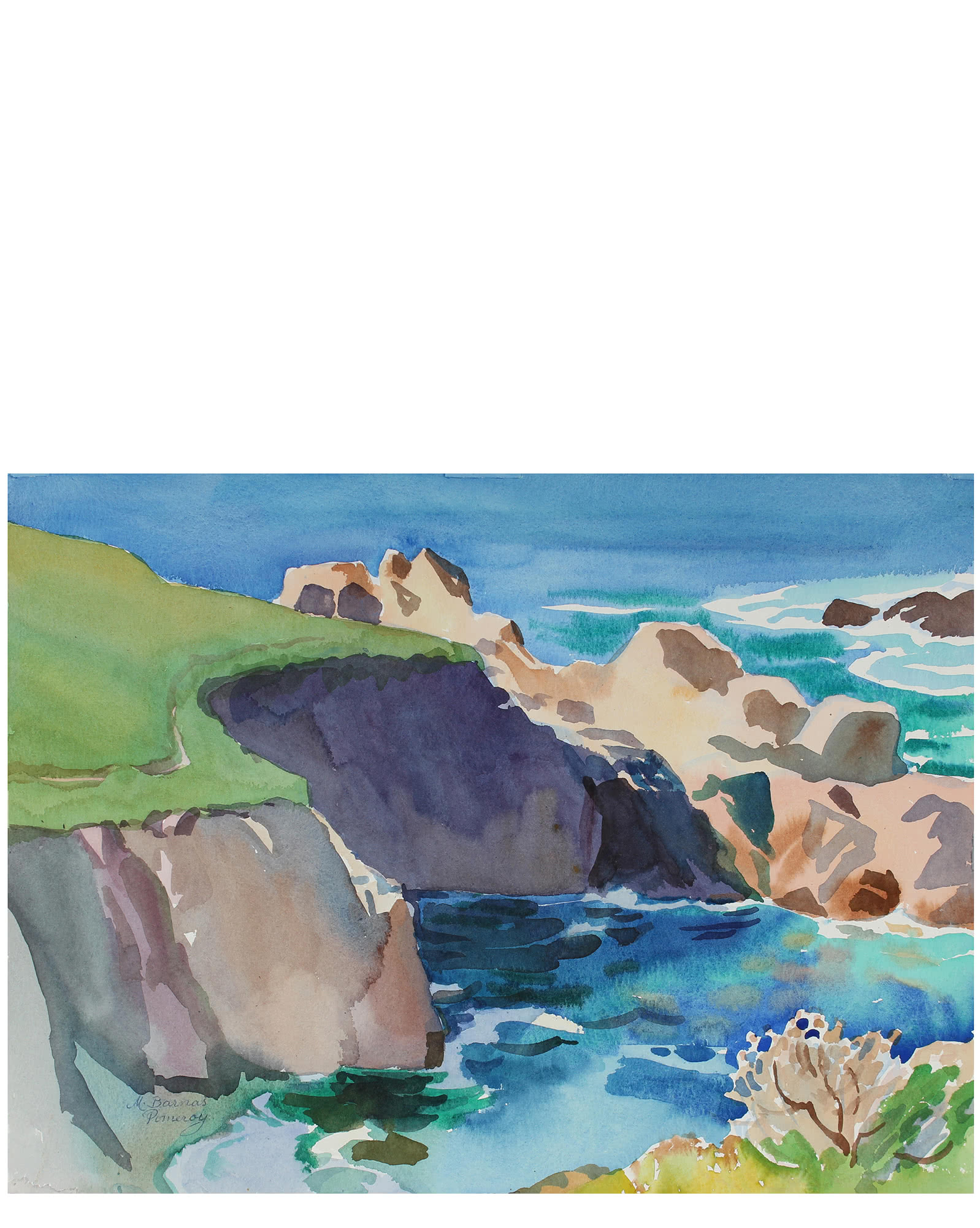 """""""Cliff View - Pacific Coast"""" by Mary Pomeroy,"""