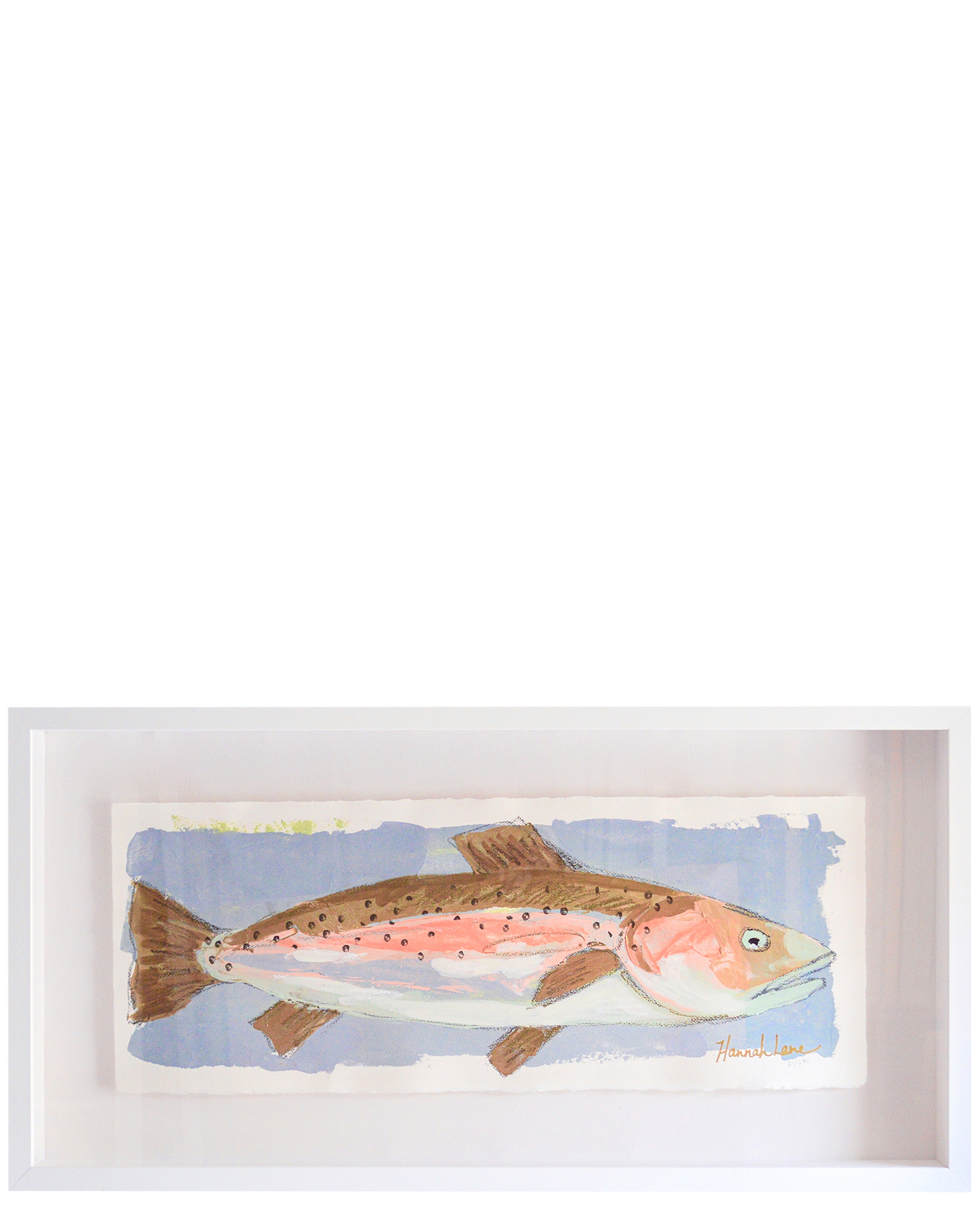 """""""Framed Trout 1"""" by Hannah Lane,"""