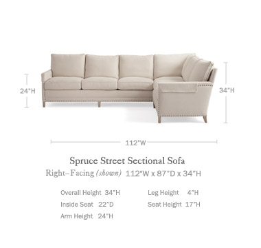 Sectional Sofa Right Facing Sofas Serena And Lily
