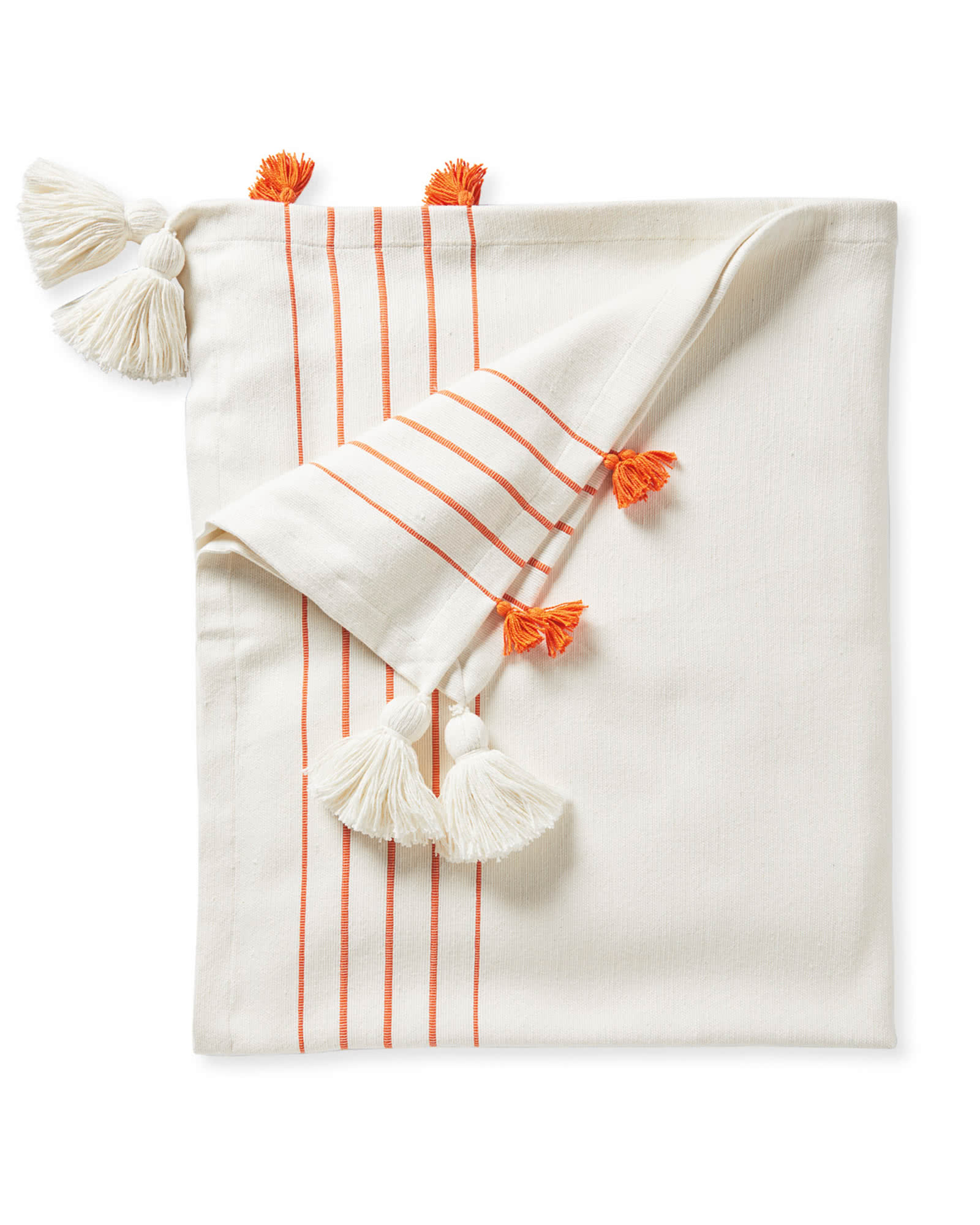 Del Mar Cotton Throw, Papaya
