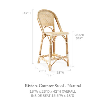 Sunwashed Riviera Counter Stool Serena Amp Lily