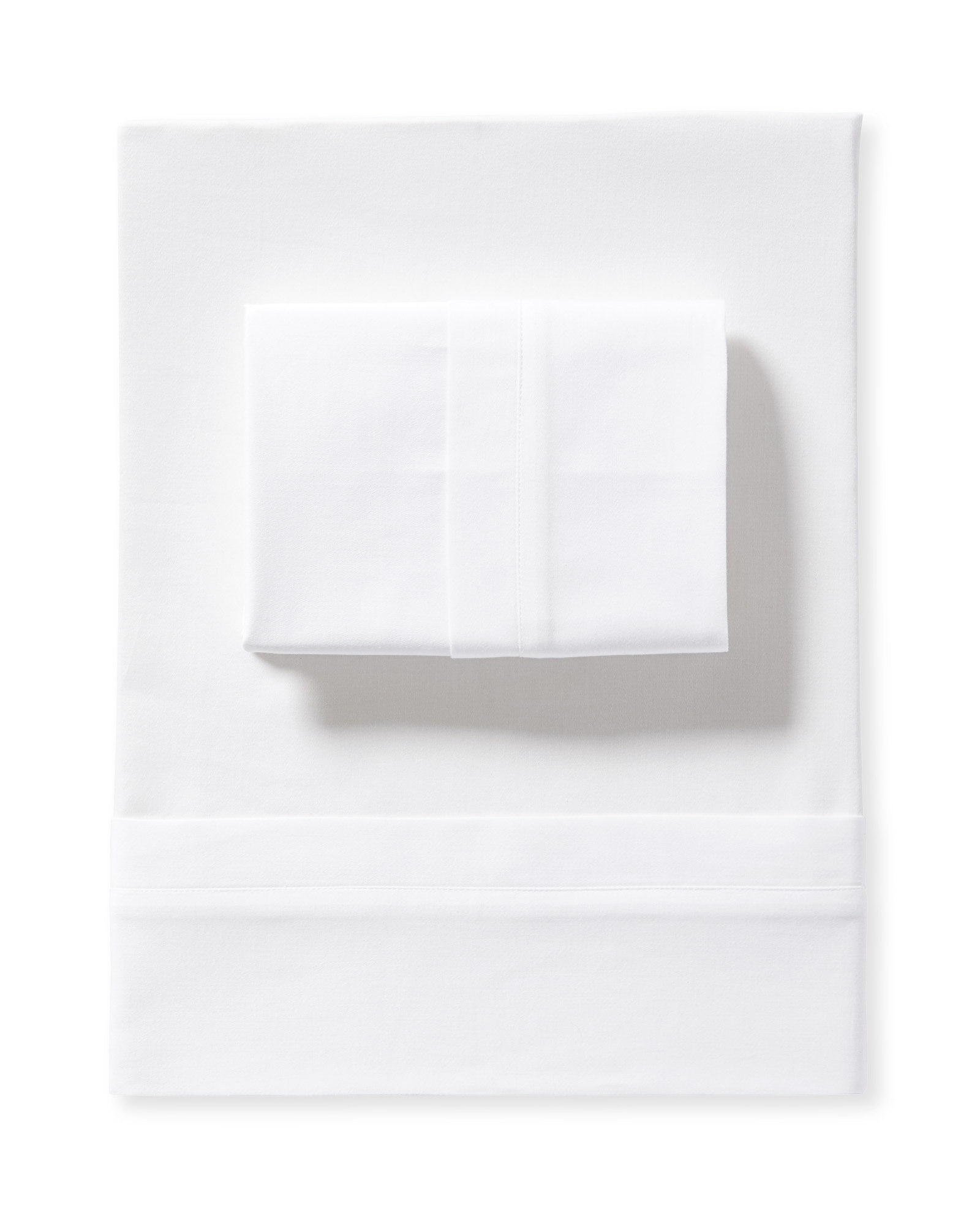 Border Frame Sheet Set, White
