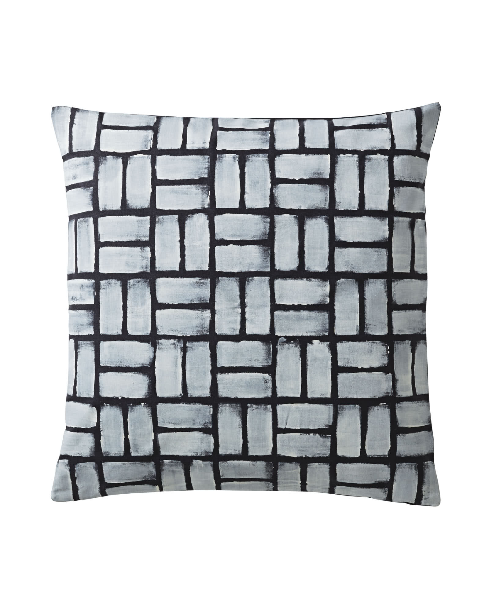 Painted Basketweave Pillow Covers,