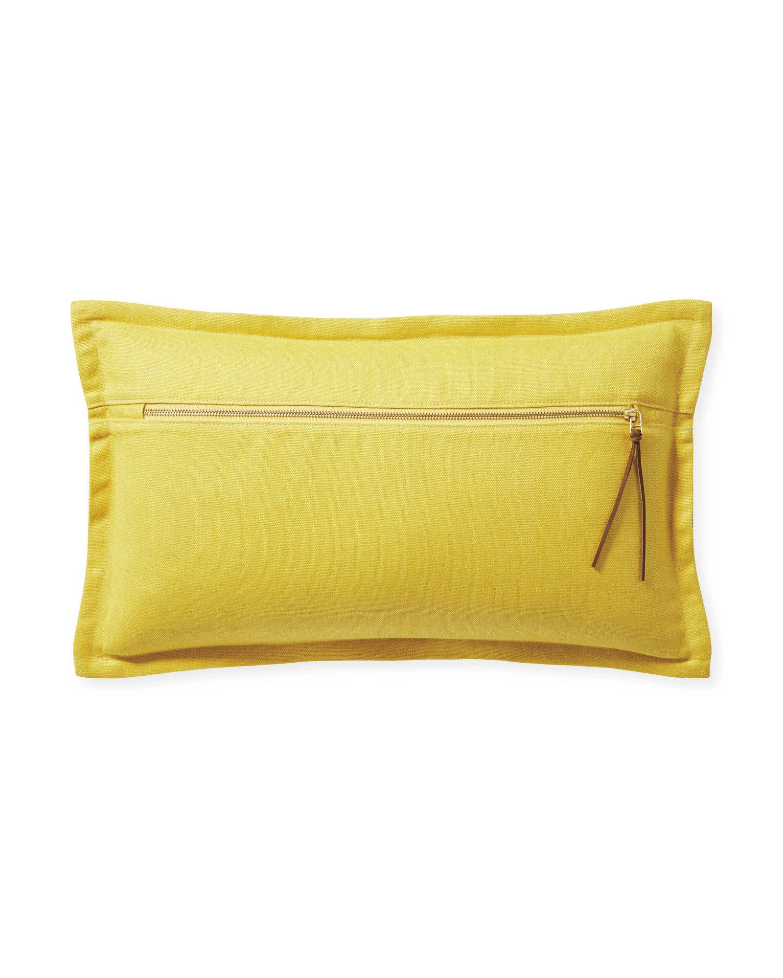 Two Tone Zip Pillow Cover, Yellow