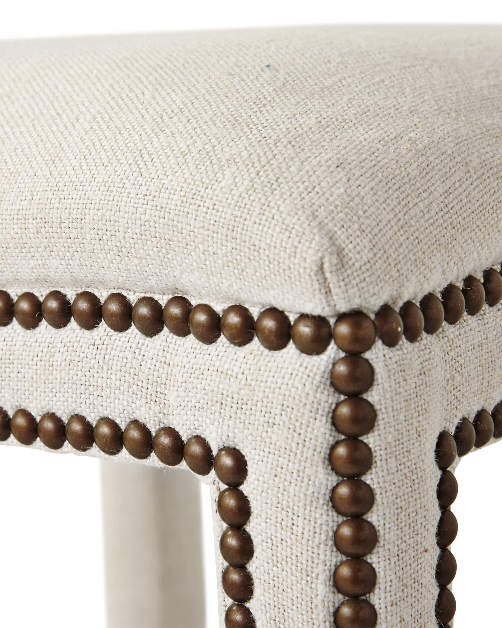 Dorset Stool with Nailheads,