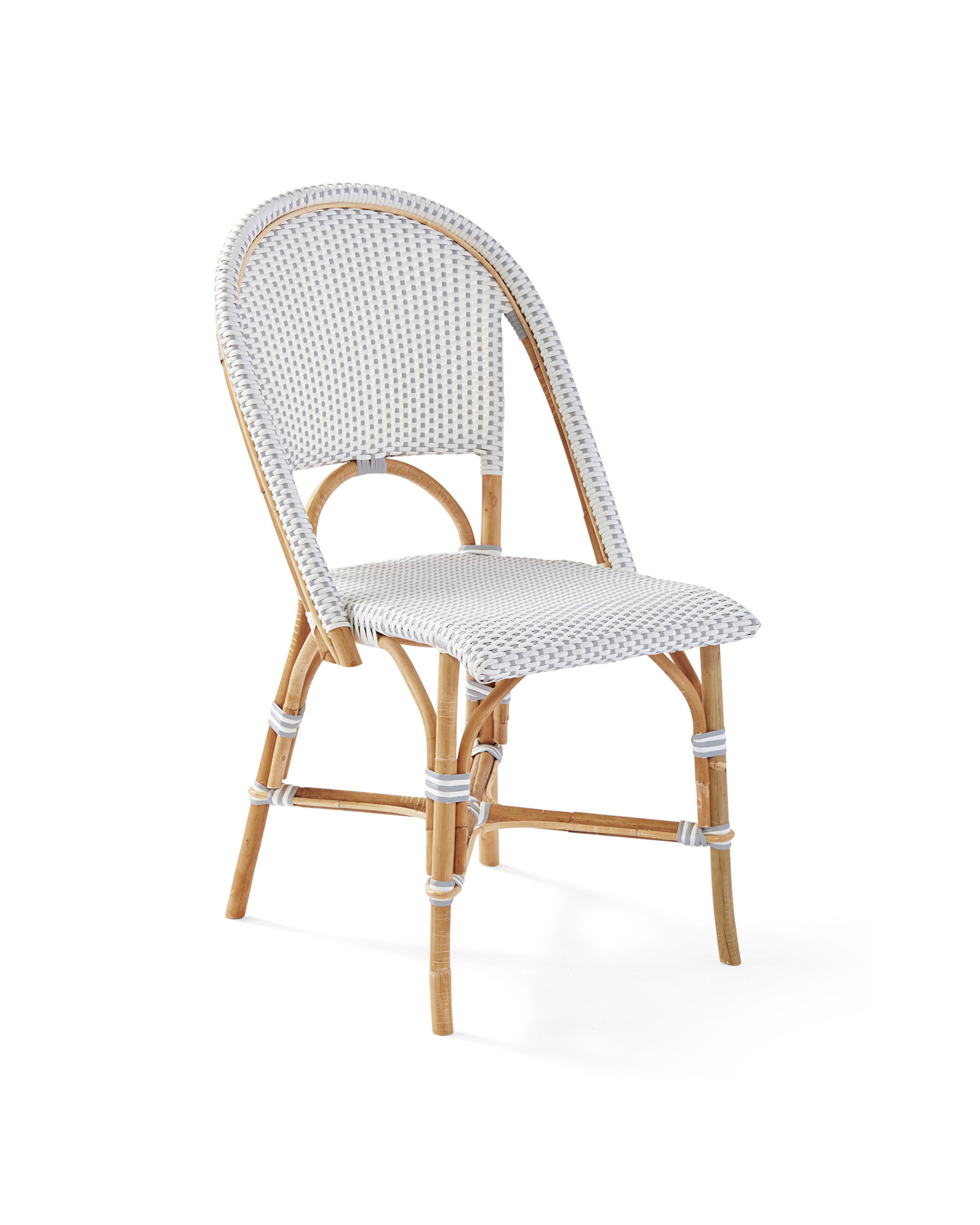 Riviera Dining Chair, Fog/White