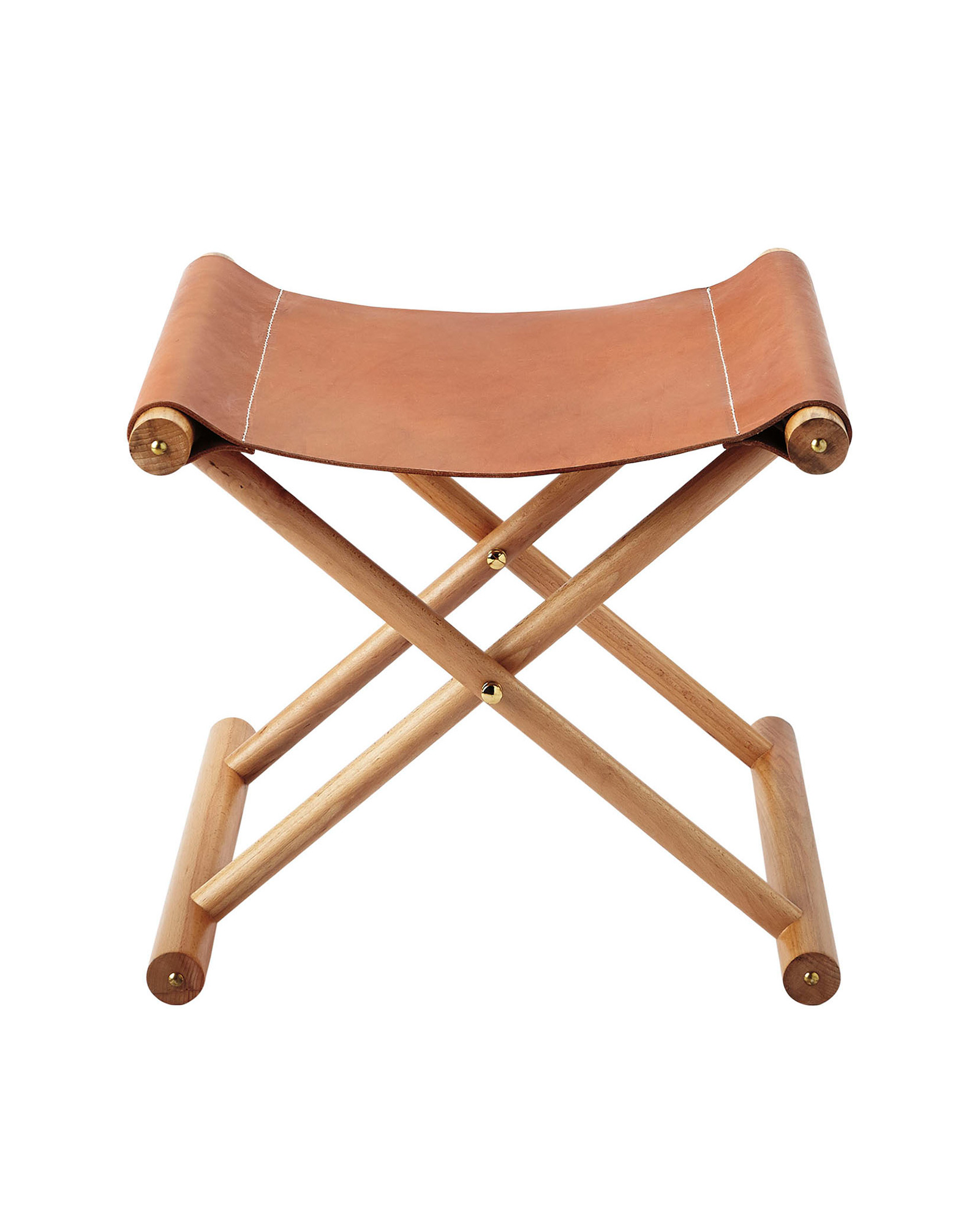 Cooper Leather Stool,