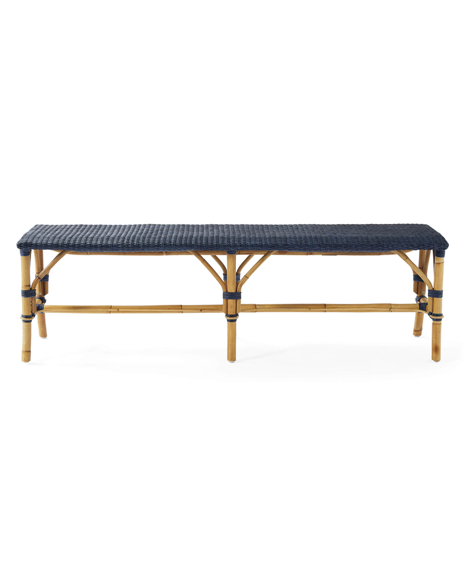 Sunwashed Riviera Backless Bench, Pacific