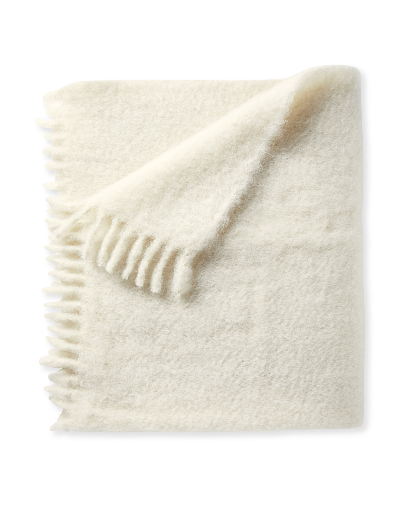 Albion Mohair Throw, Ivory