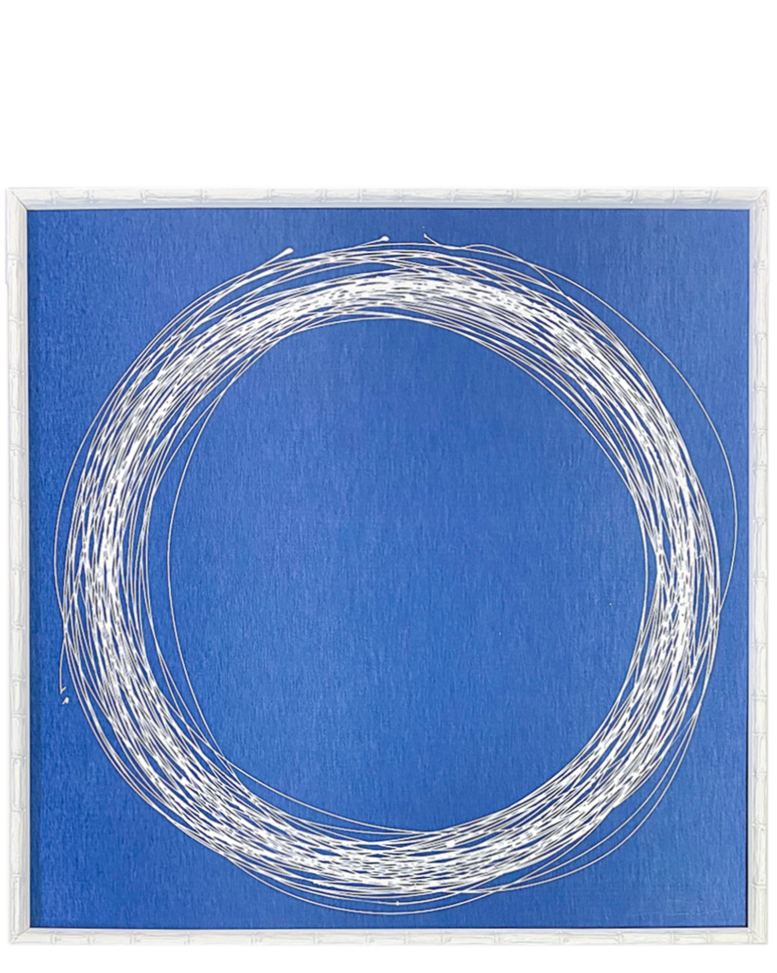 """White Circle on Blue Silk"" by Kayce Hughes,"