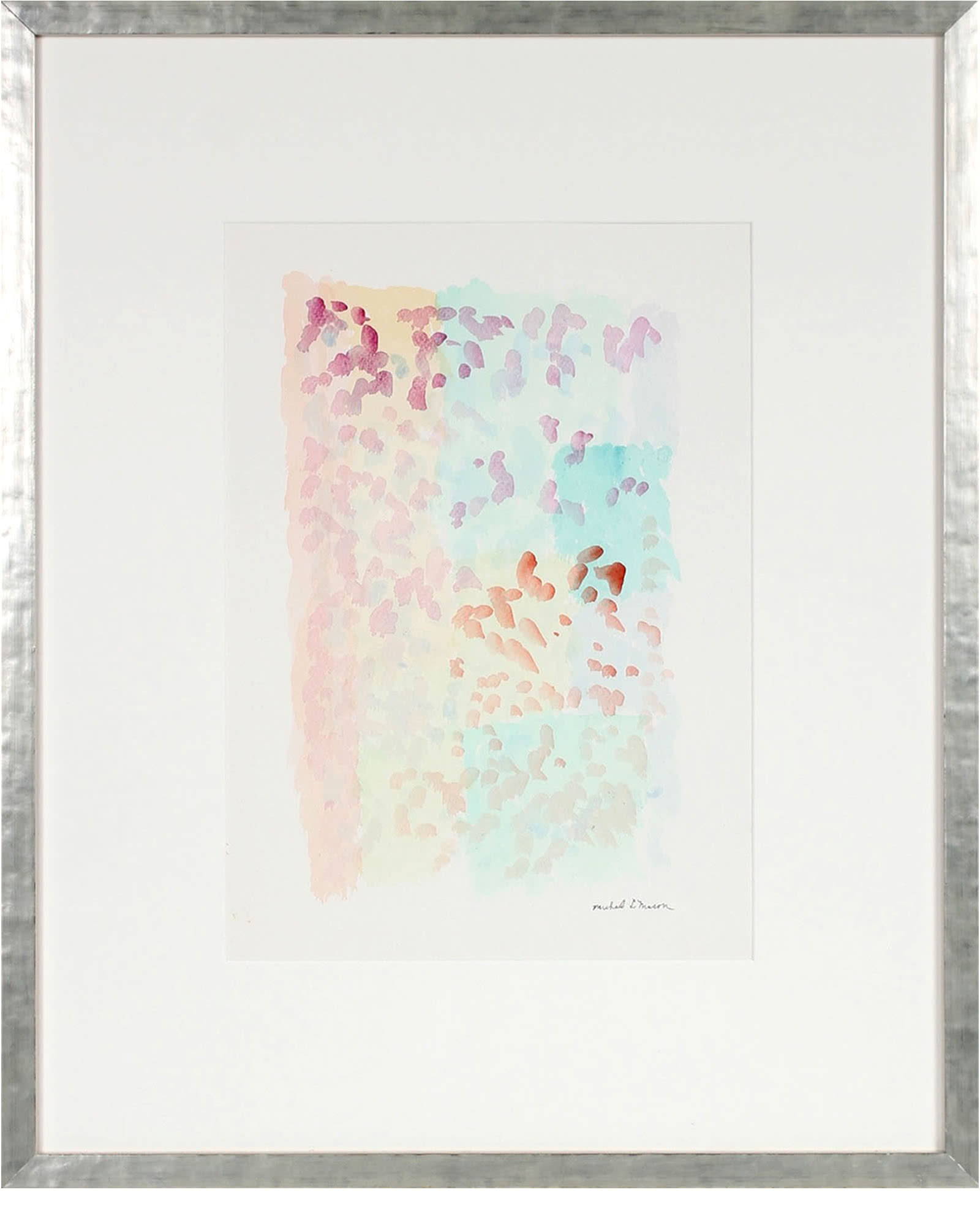 """""""Pale Watercolor Abstract in Pastels"""" by Michael L. Mason,"""