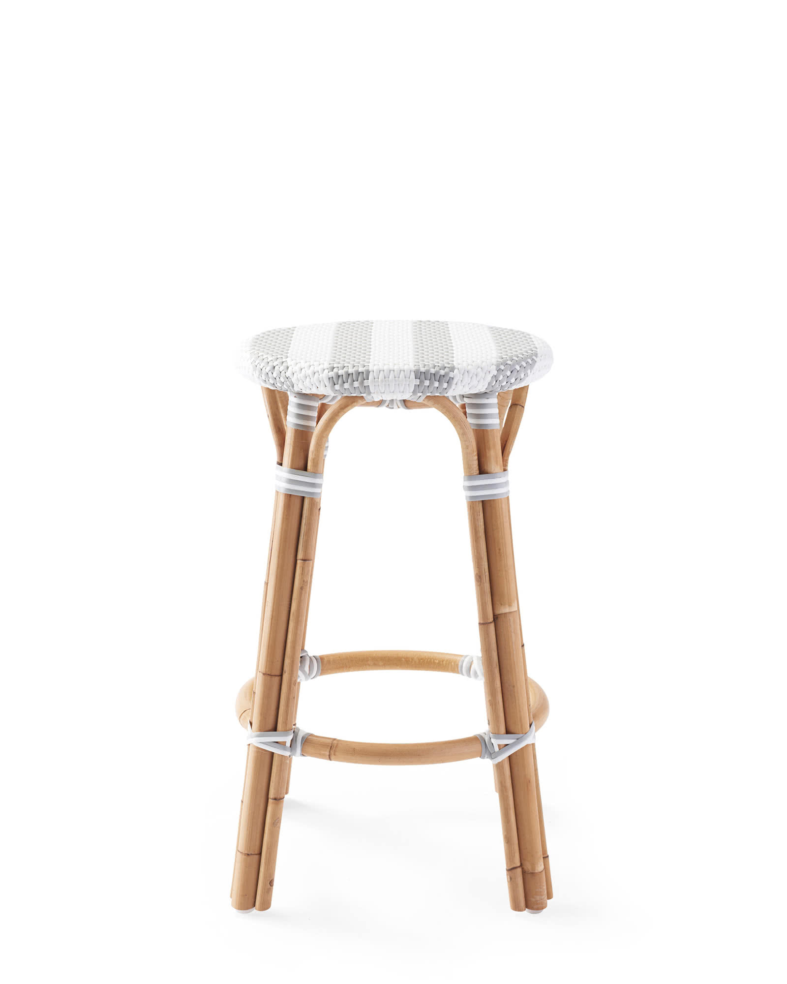 Riviera Backless Counter Stool - Striped, Fog