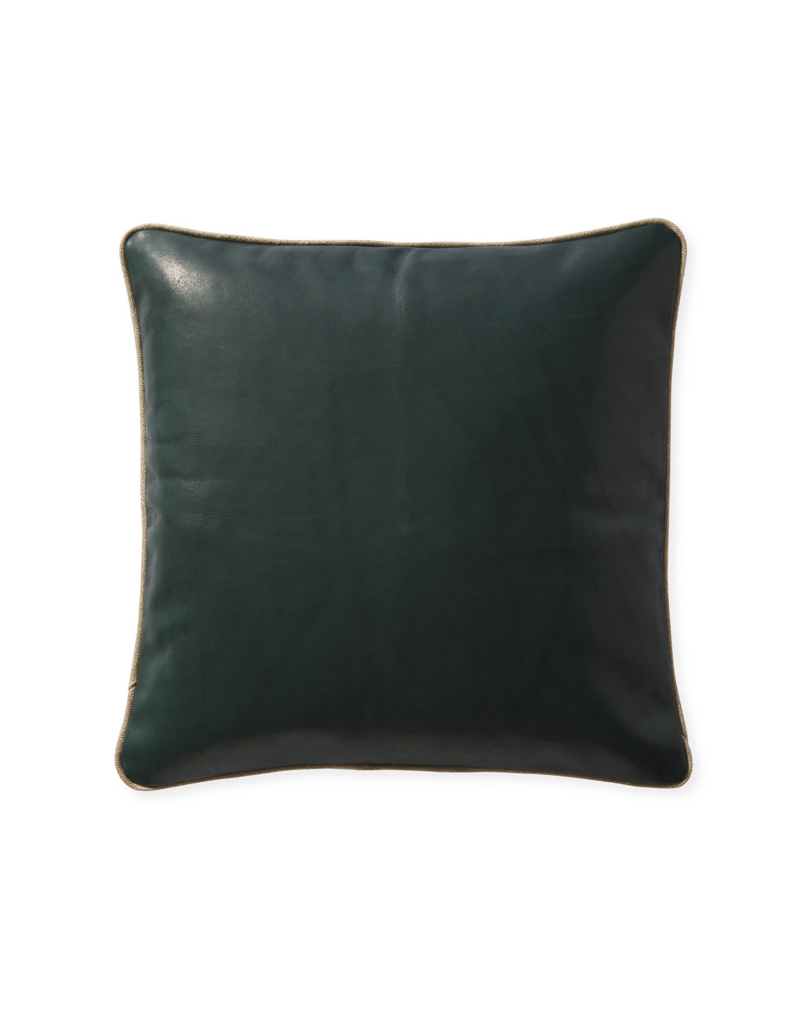 Leather Pillow Cover, Evergreen