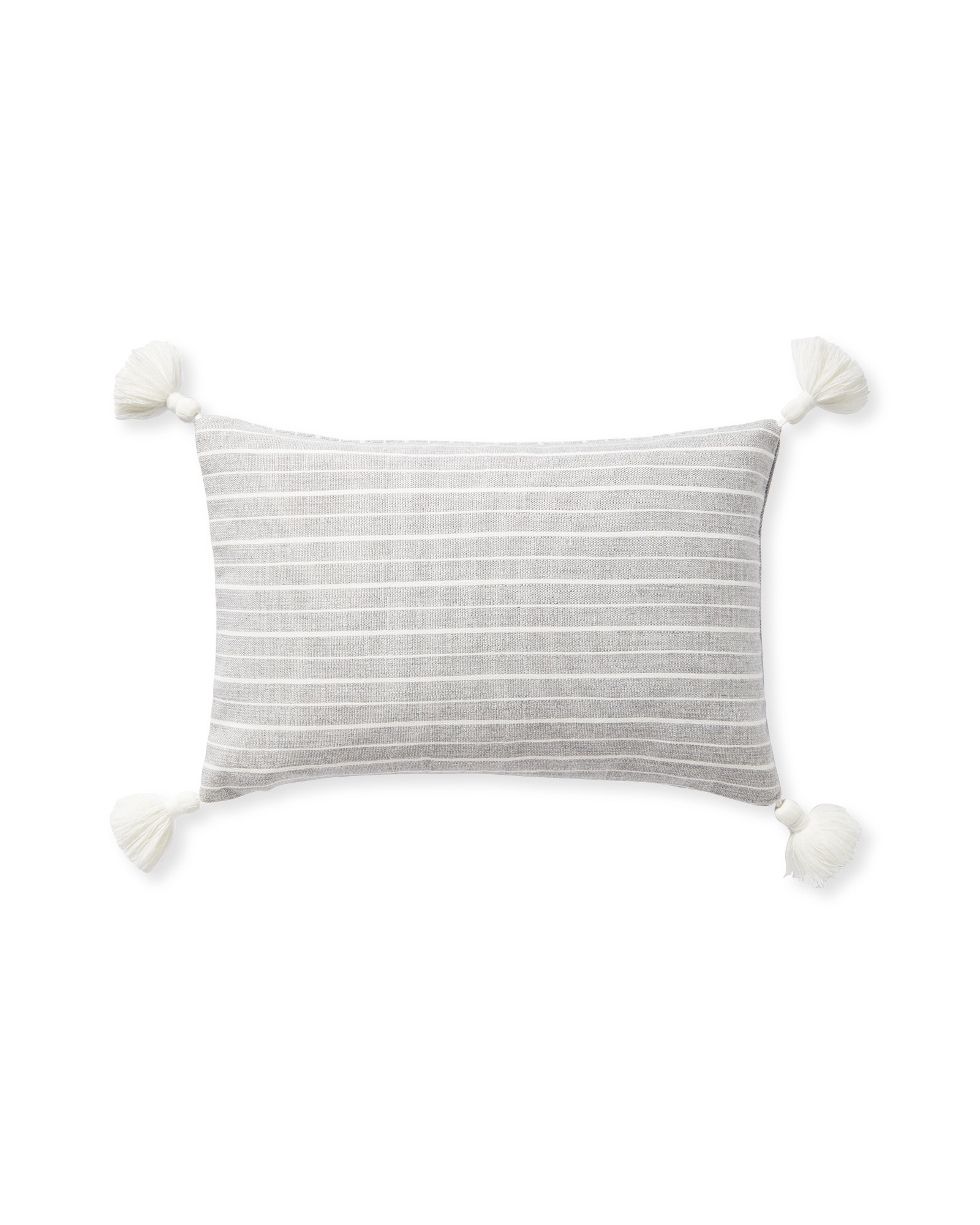 Sunbrella® Sail Stripe Pillow Cover, Fog