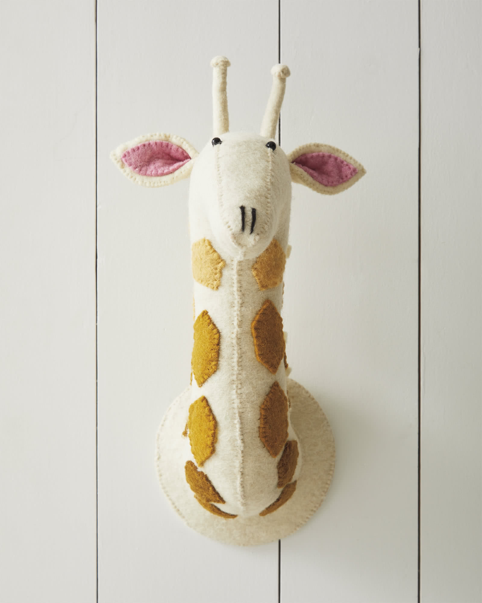 Felted Wool Wall Animal – Ombré Giraffe,