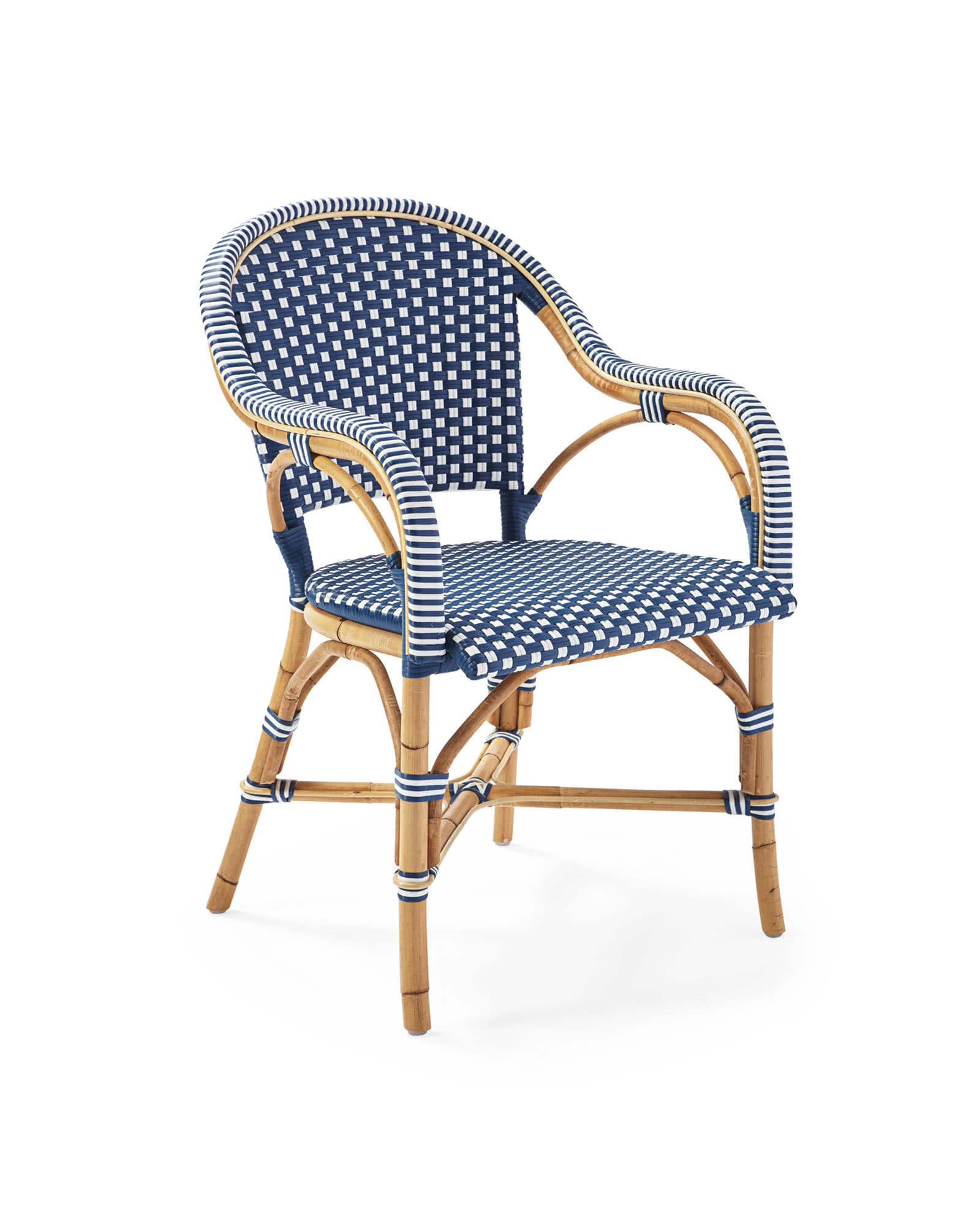 Riviera Classic Armchair, Navy/White