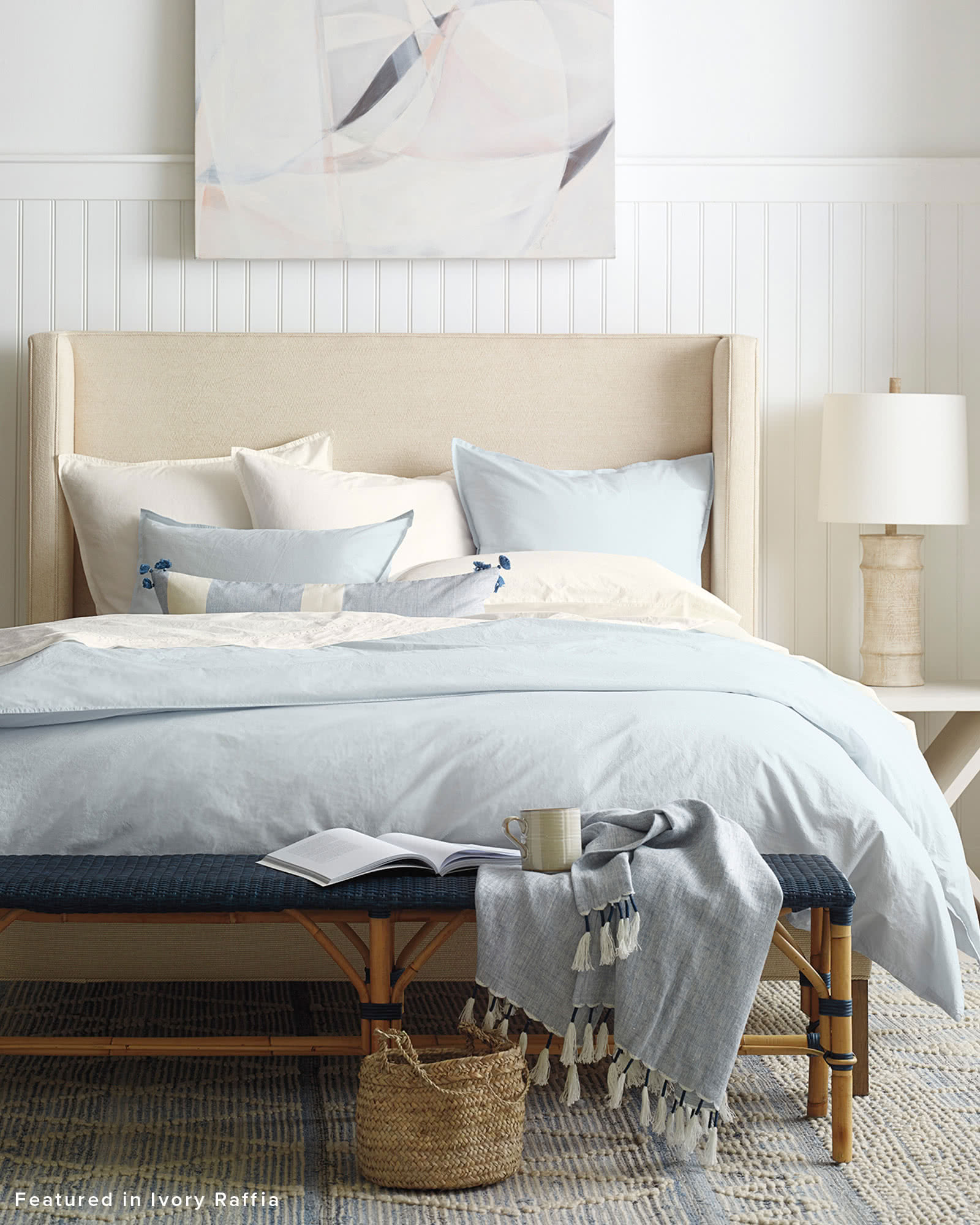 Portofino Washed Percale Duvet Cover, Sky