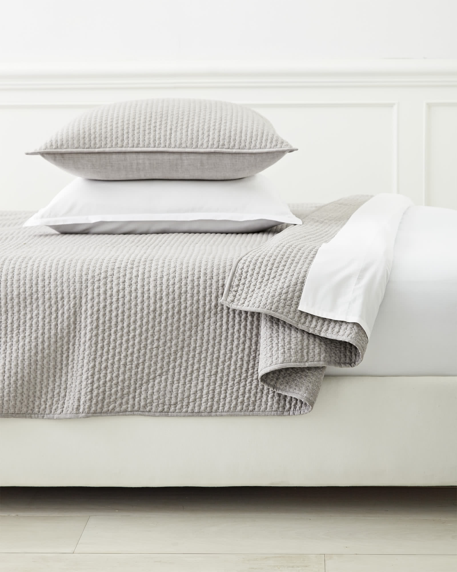 Westwood Quilt, Light Grey
