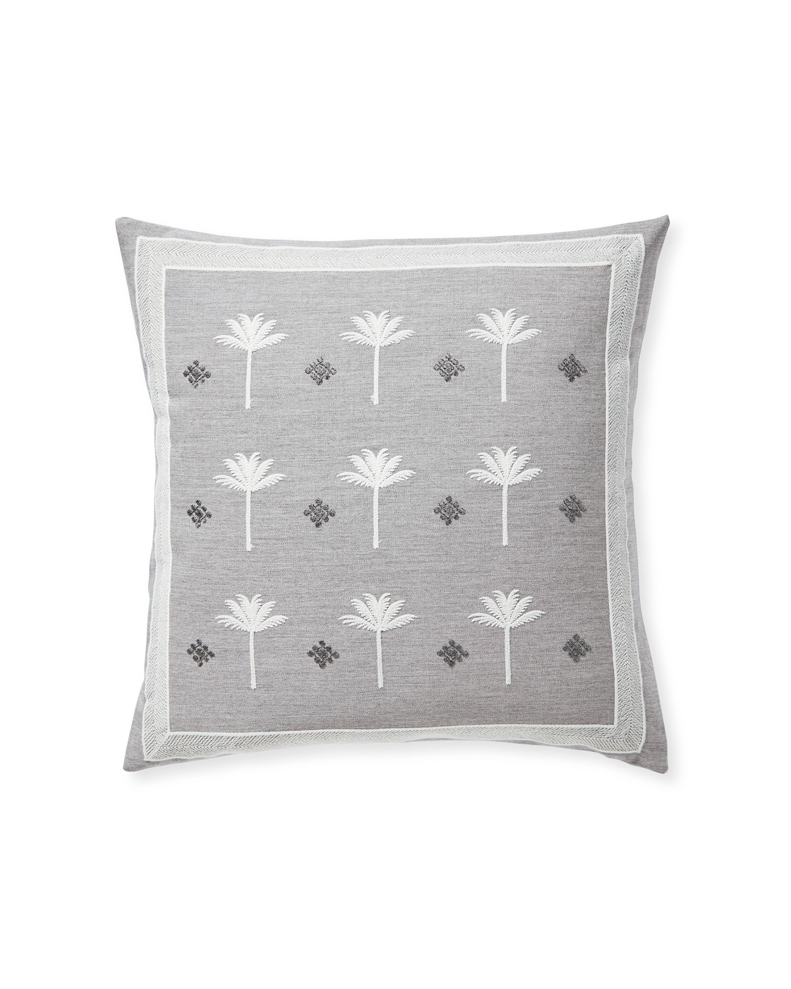 Sunbrella® Veracruz Pillow Cover, Fog/Smoke
