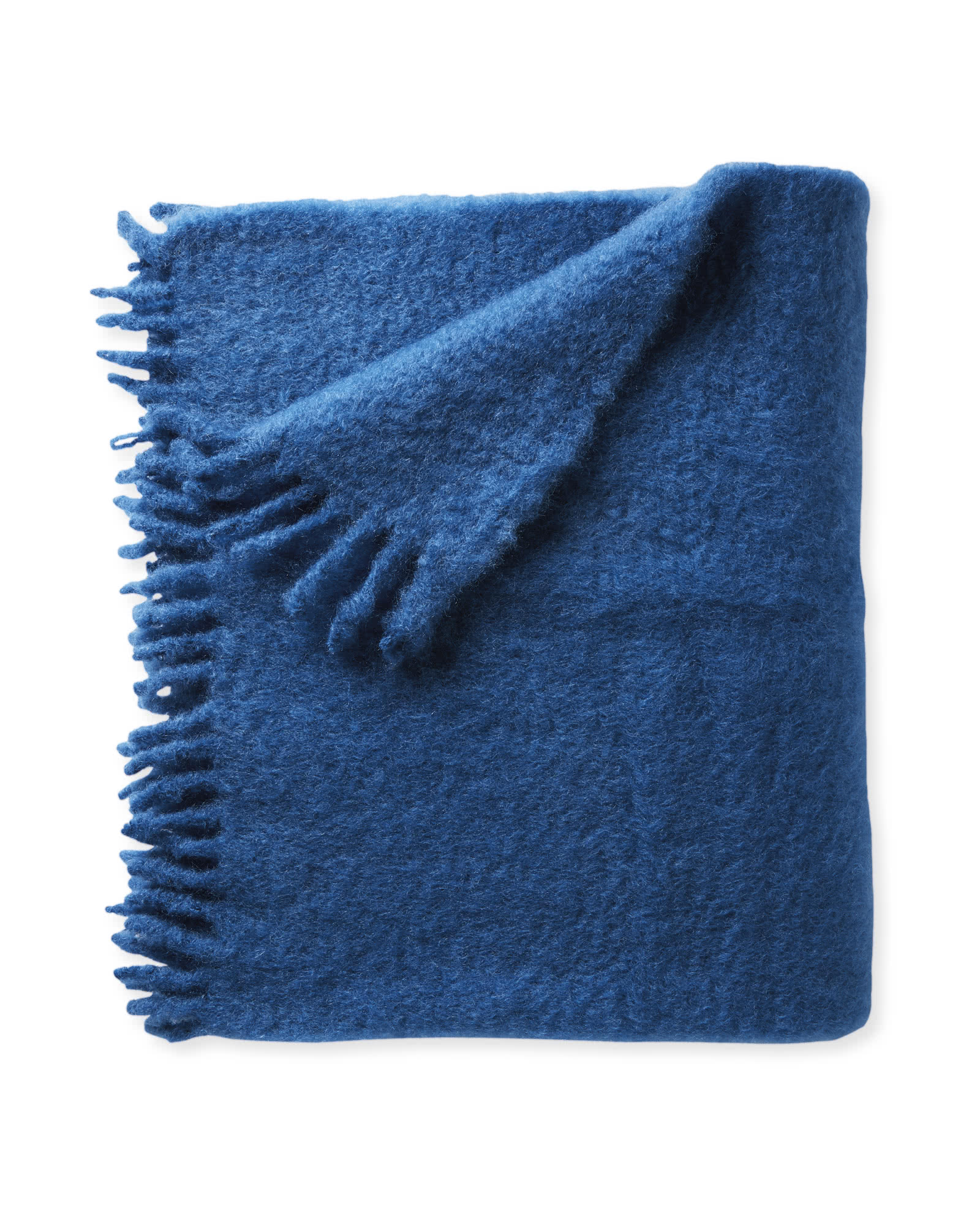 Albion Mohair Throw, Marine