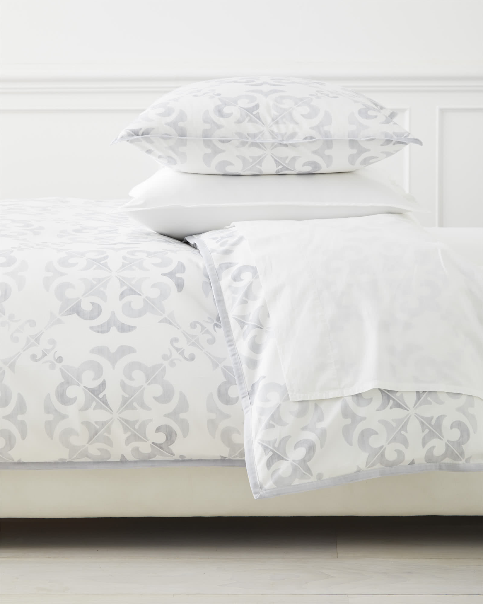Wentworth Duvet Cover, Grey