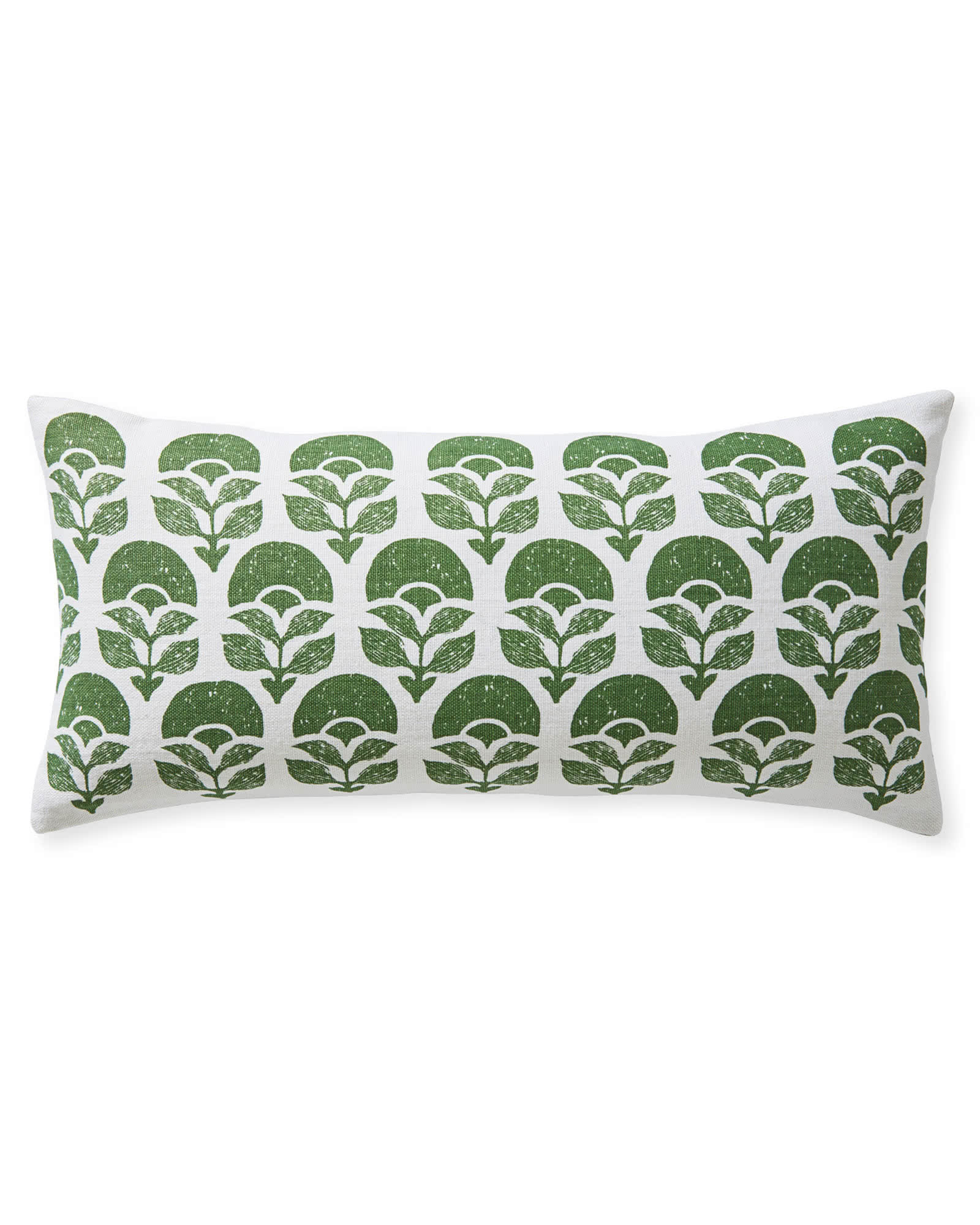 Larkspur Printed Pillow Cover, Moss