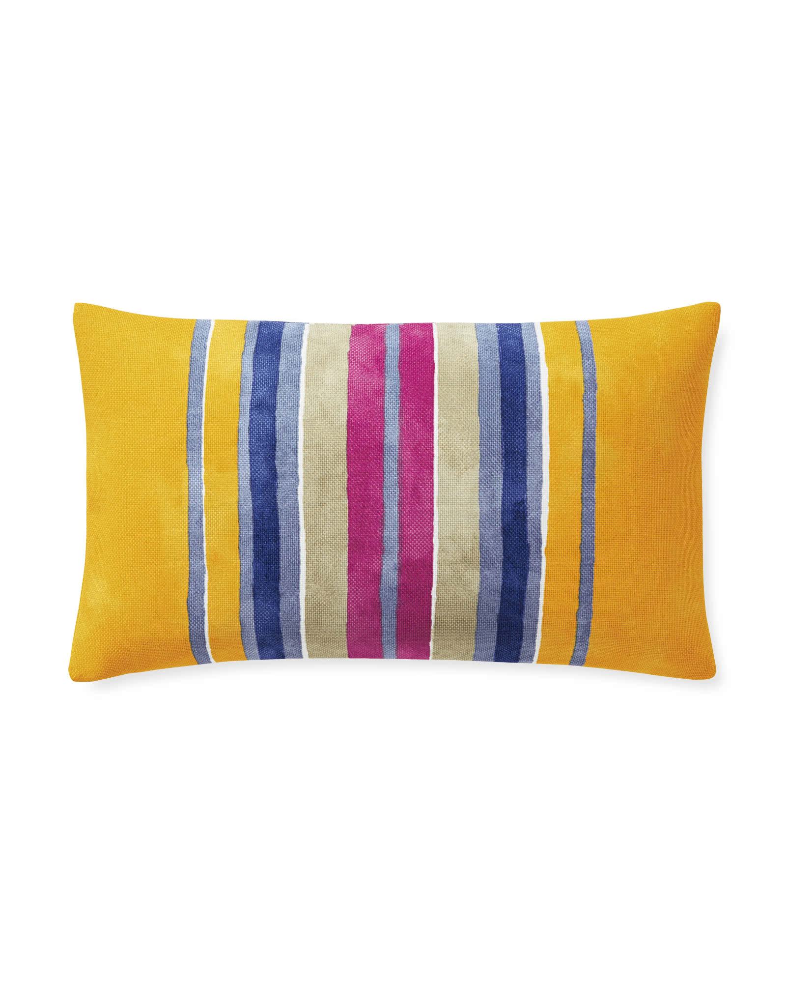 Sonoma Stripe Outdoor Pillow Cover, Yellow