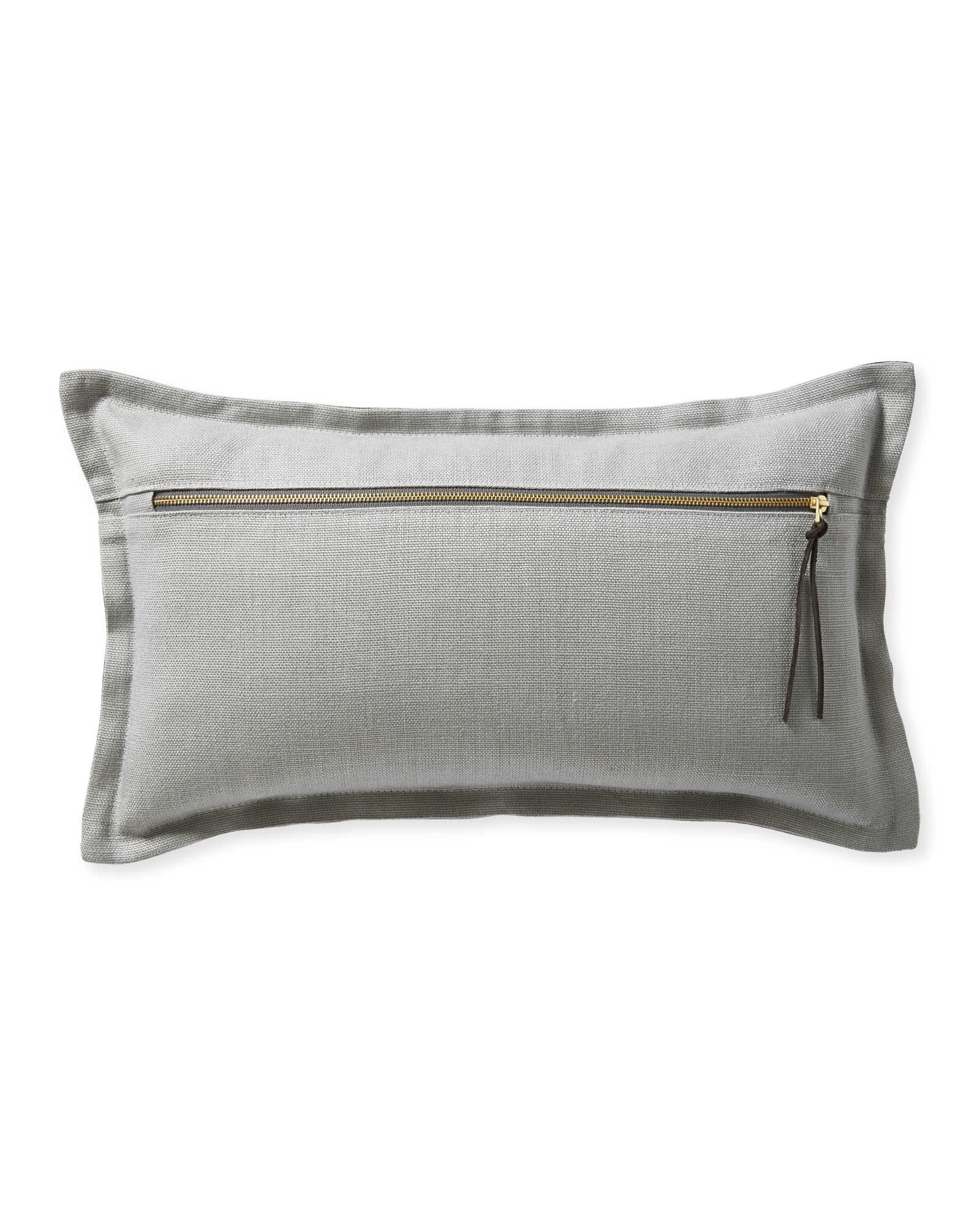 Two Tone Zip Pillow Cover, Steel/Pewter