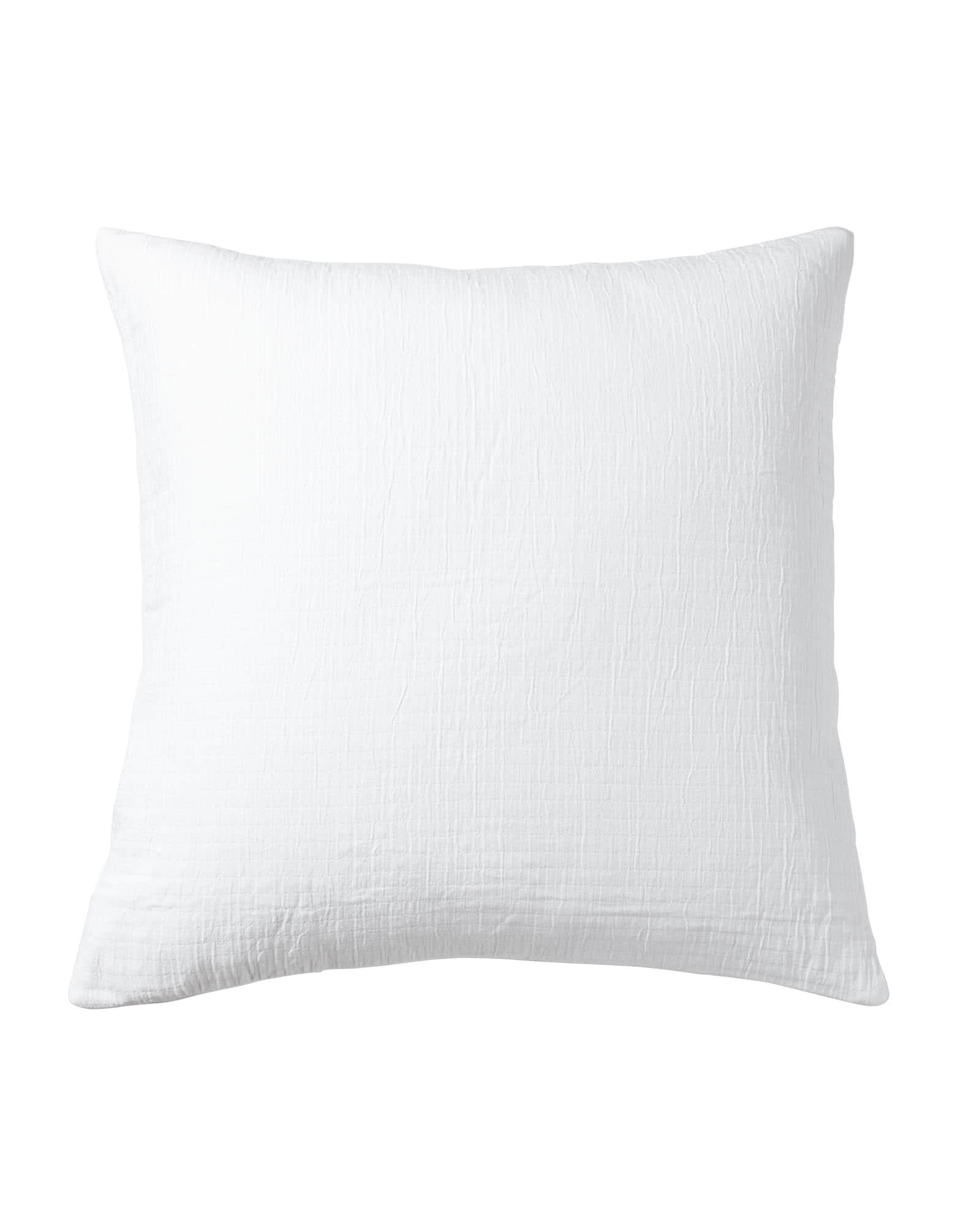 Pickstitch Matelassé Euro Sham, White