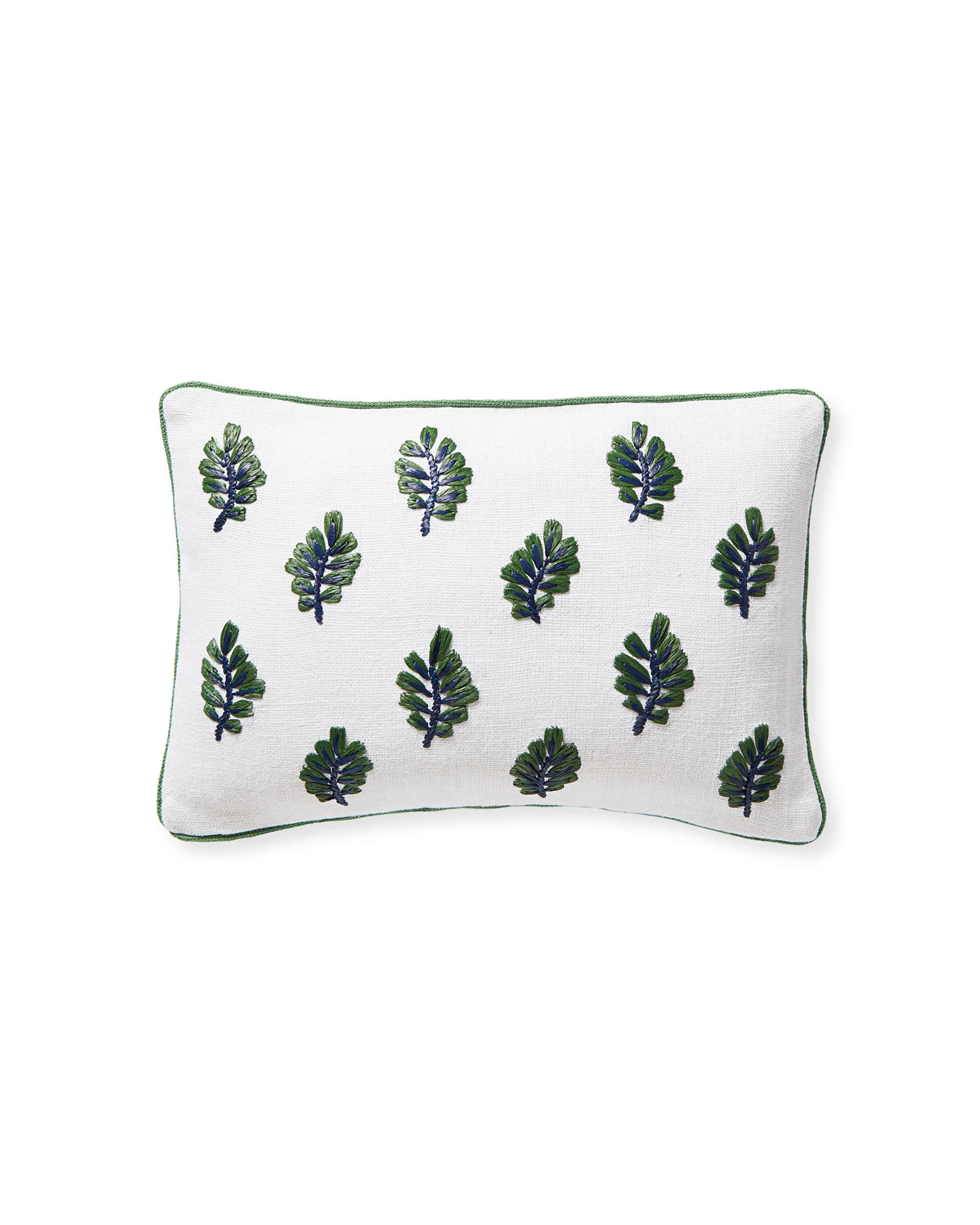Blossom Pillow Cover, Navy/Moss