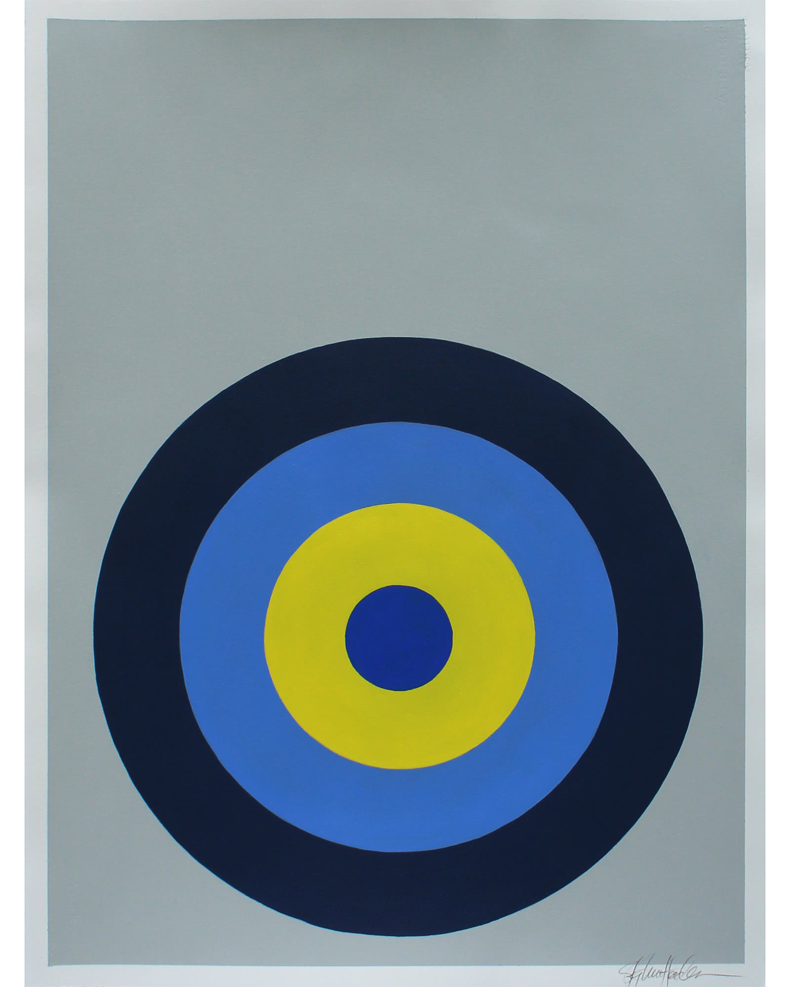 """""""Target Practice in Blue and Yellow"""" by Stephanie Henderson,"""