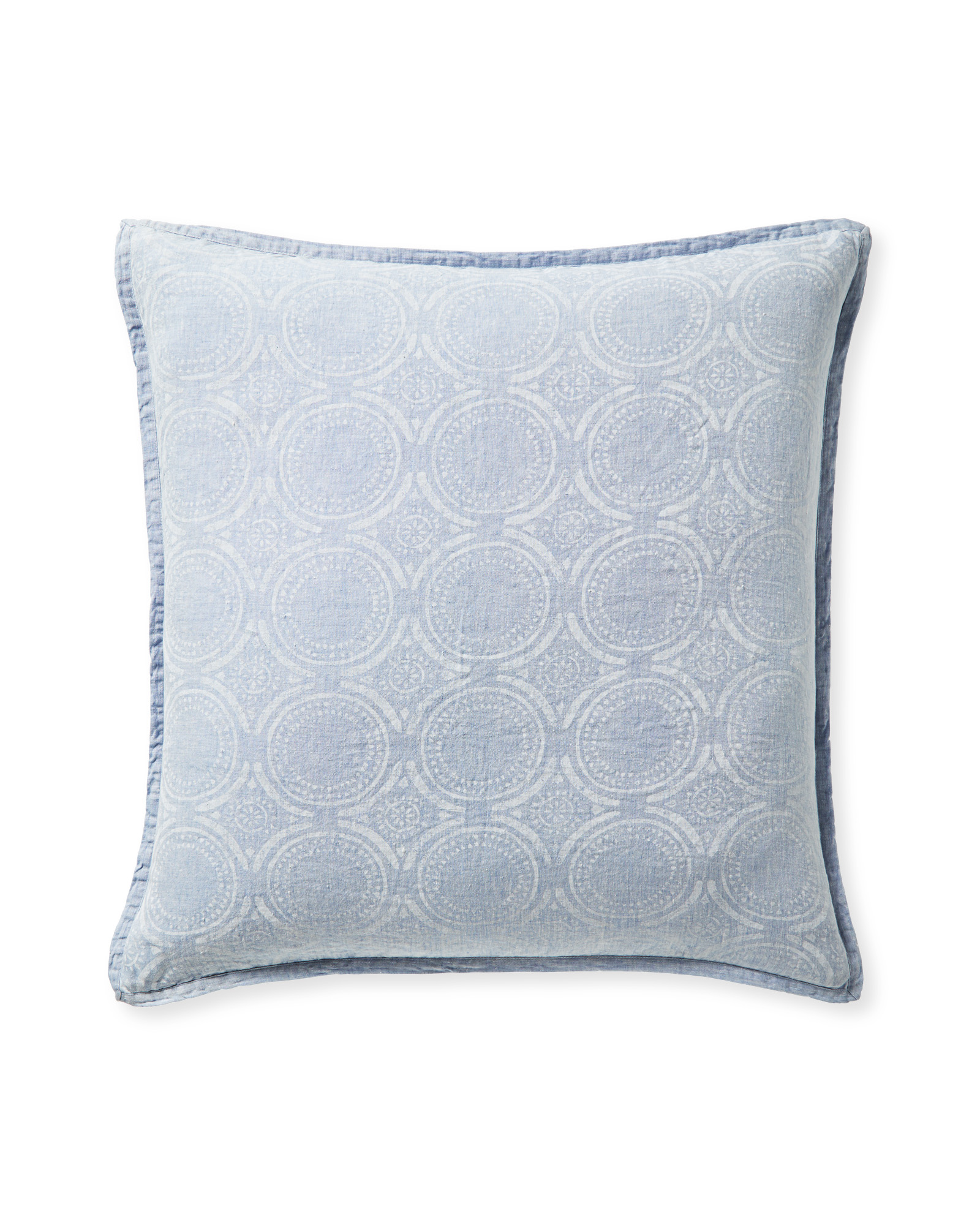Cavallo Tile Shams, Blue Chambray