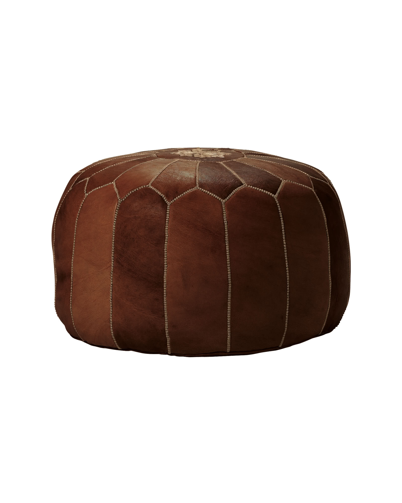moroccan leather pouf poufs serena and lily. Black Bedroom Furniture Sets. Home Design Ideas