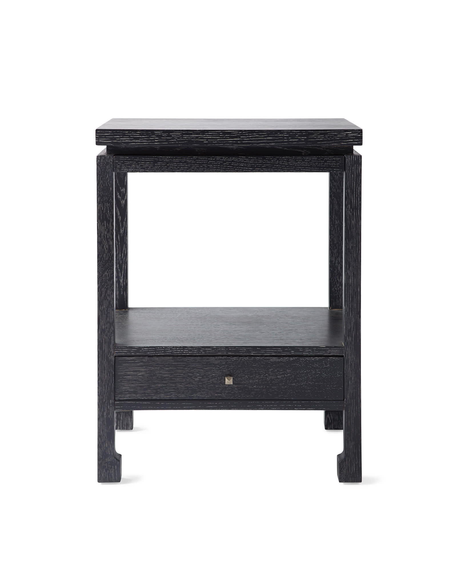 Reese Nightstand, Cerused Ebony