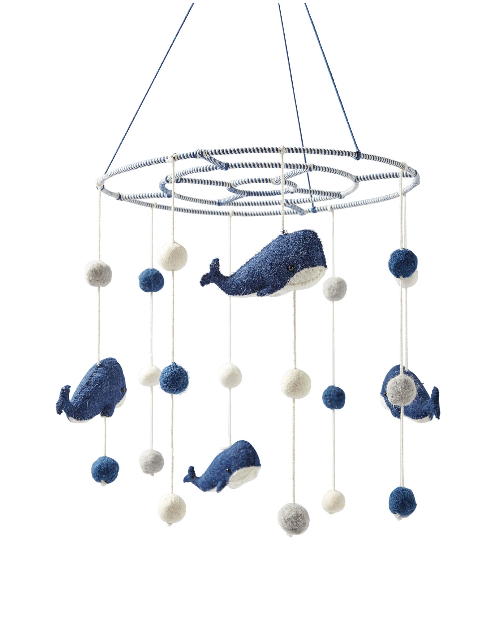 Felted Wool Animal Mobile – Whales,