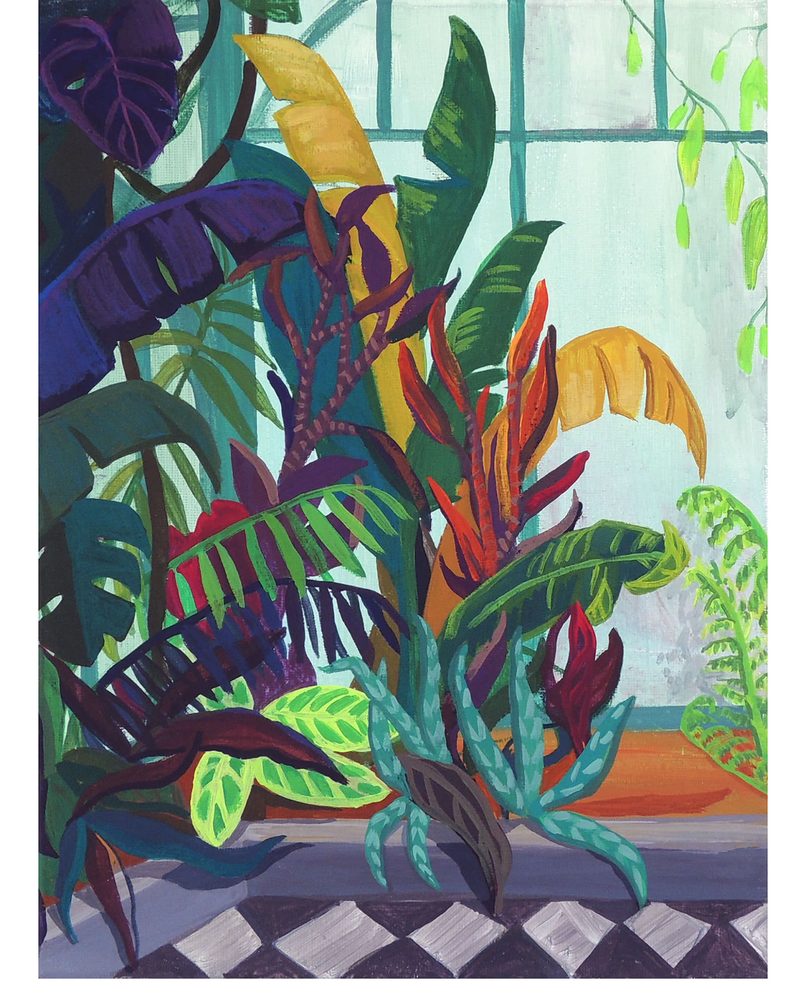 """""""Crowded Tropicals"""" by Claire Elliott,"""
