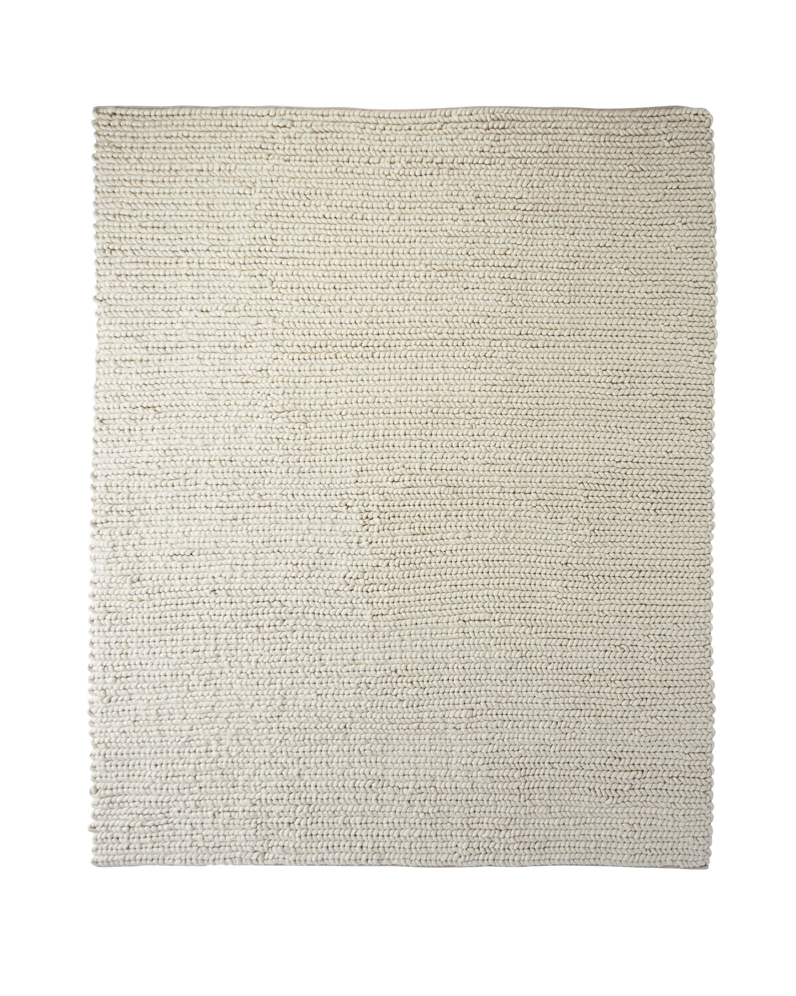 Braided Wool Rug, Ivory