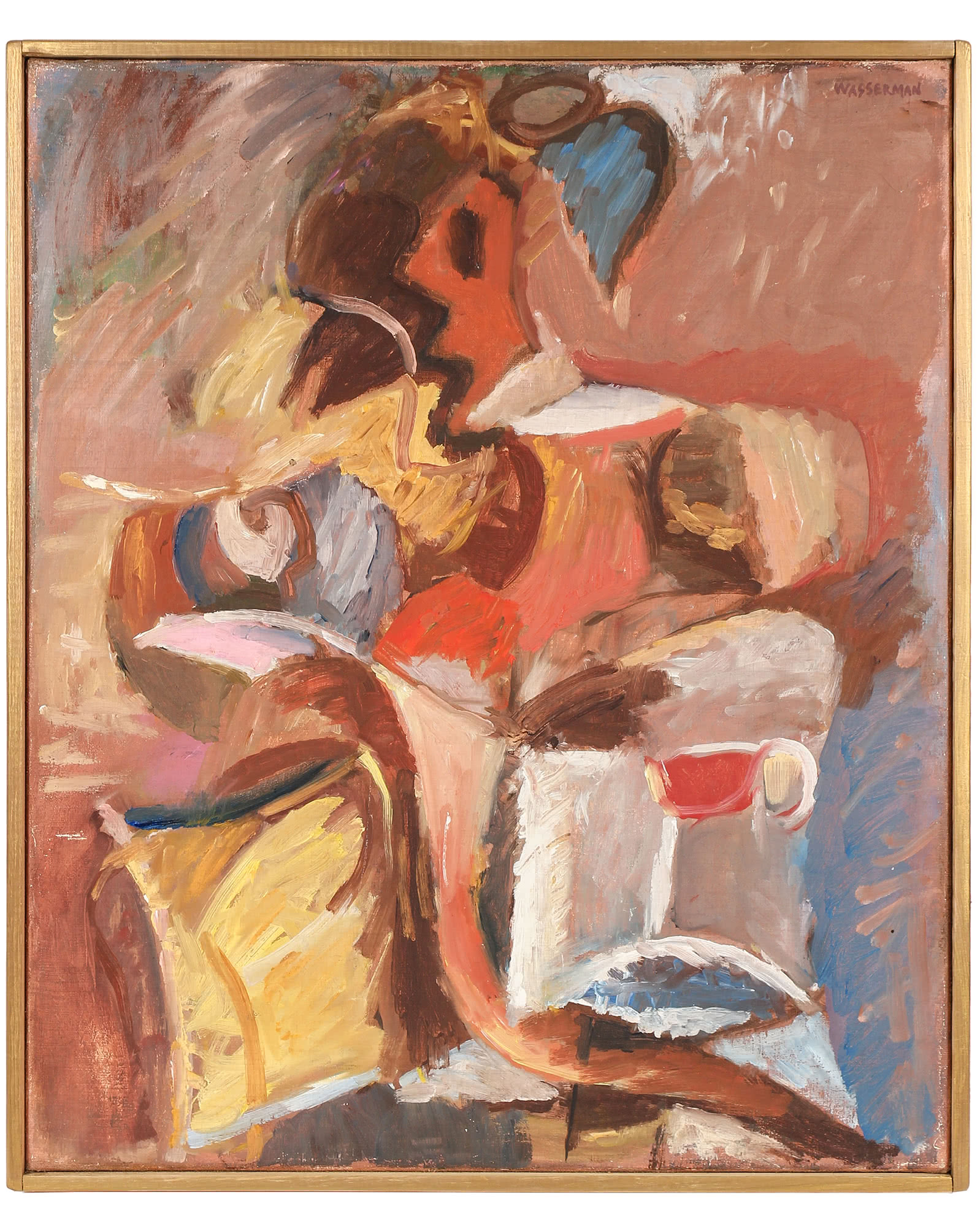 """""""Amorphic Cubist Abstraction"""" by Gerald Wasserman,"""