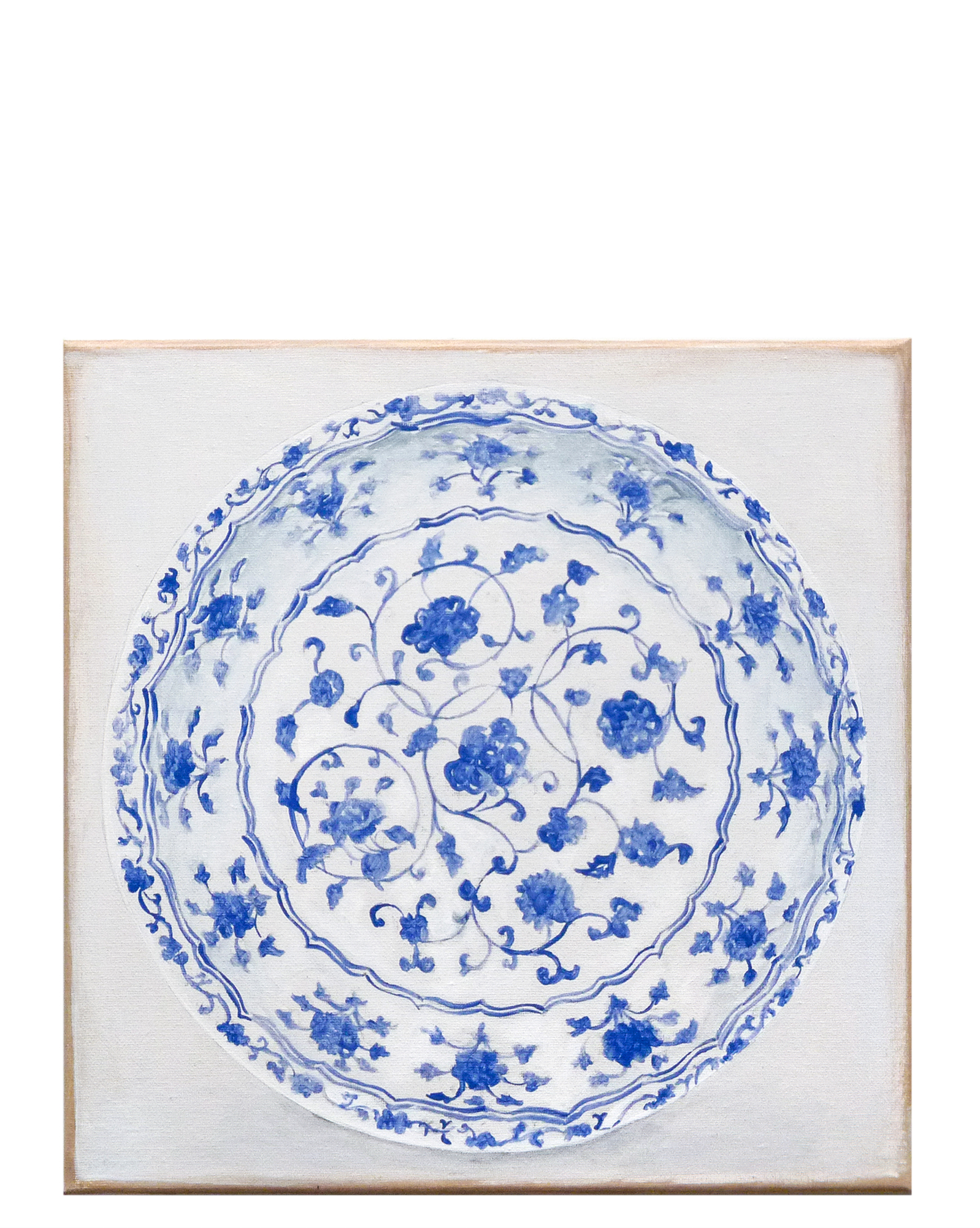 """""""Chinoiserie Plate"""" by Carol Saxe,"""