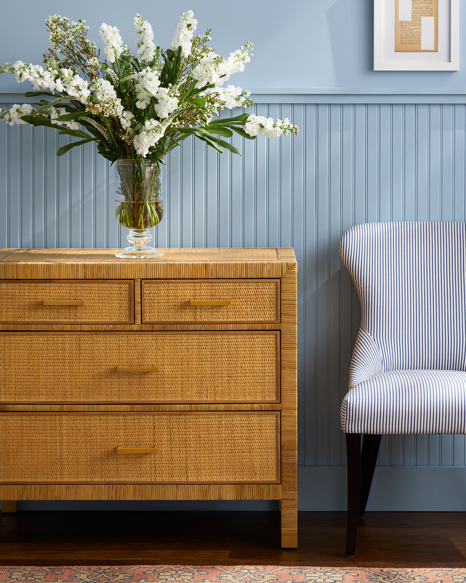 Grace Chair - Perennials® Pinstripe French Blue,